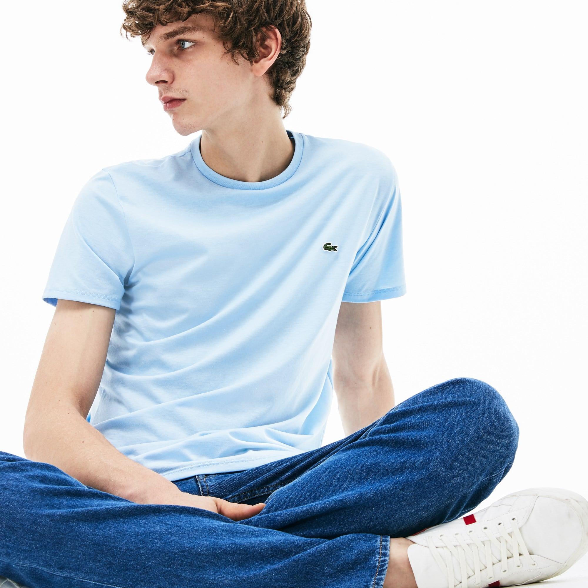 T-shirt col rond en jersey de coton pima uni 7adef9030c7