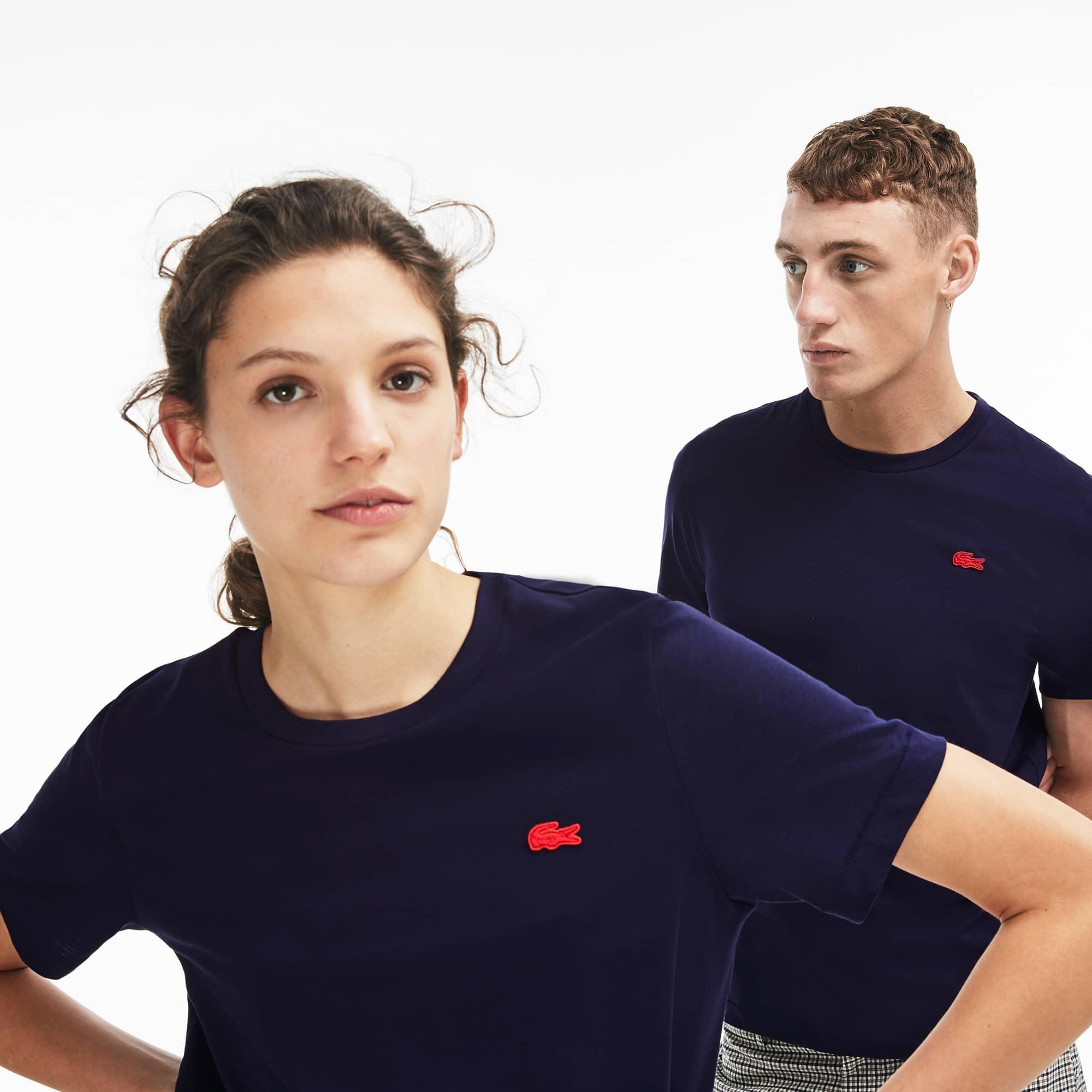 T-shirt col rond unisexe Lacoste LIVE en jersey de coton uni