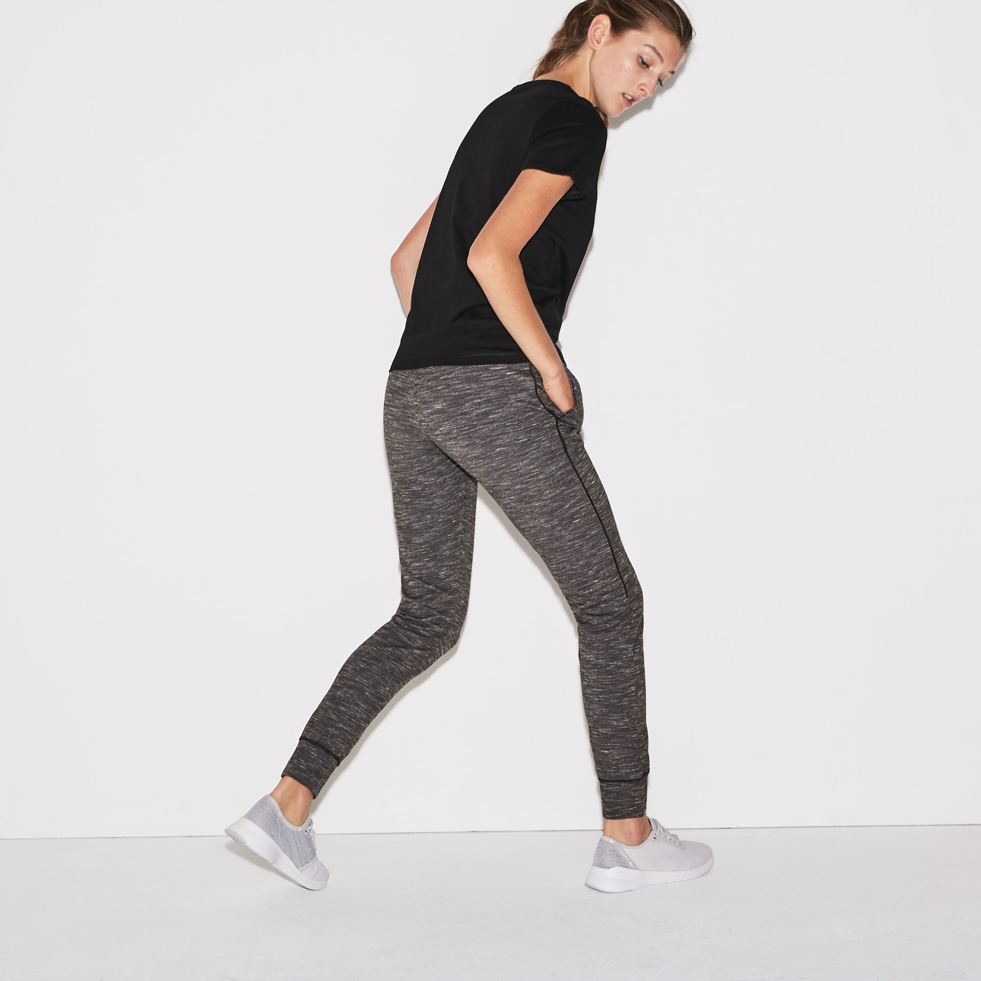 Jogging urbain Tennis Lacoste SPORT chiné stretch
