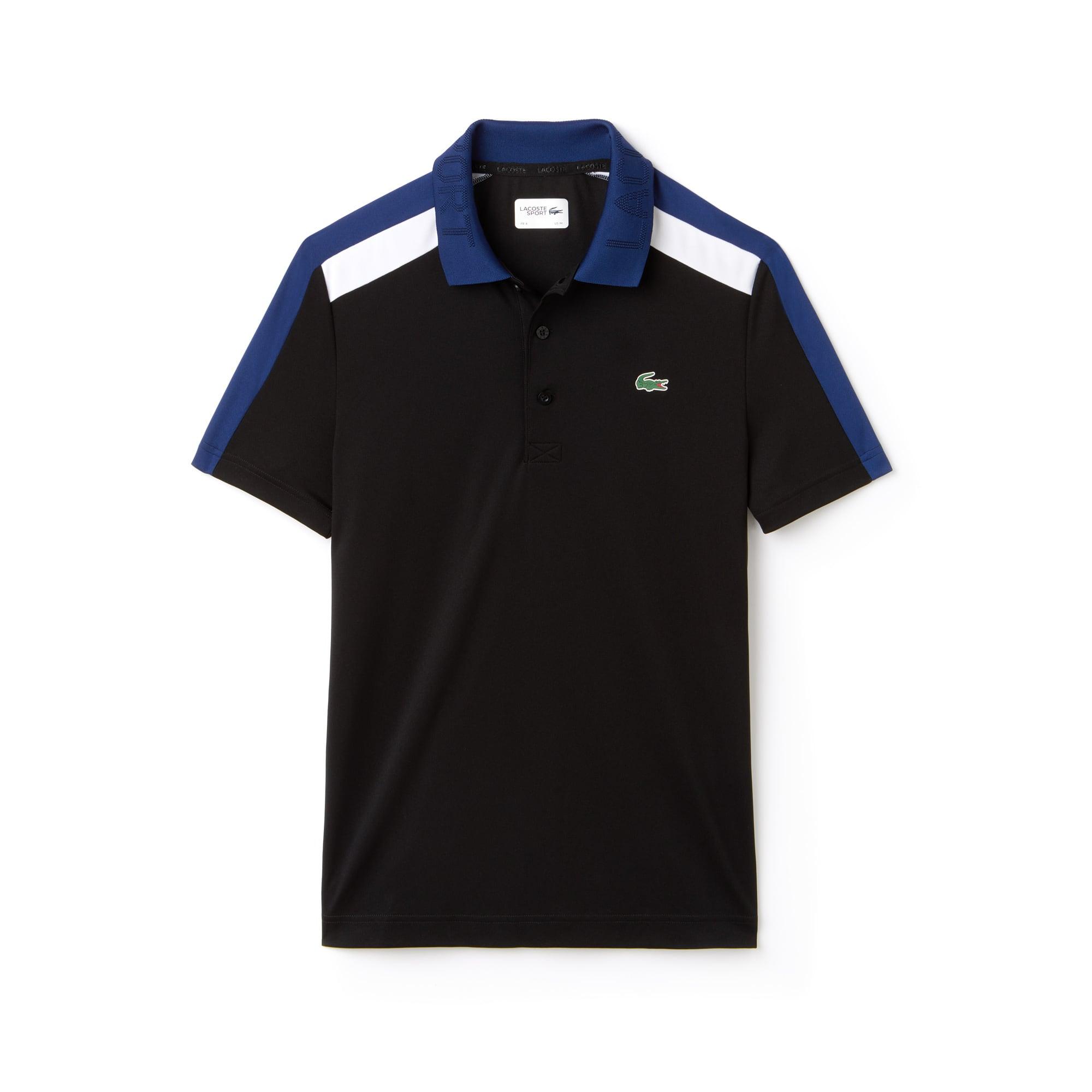 Polo Tennis Lacoste SPORT en piqué technique à bandes contrastées