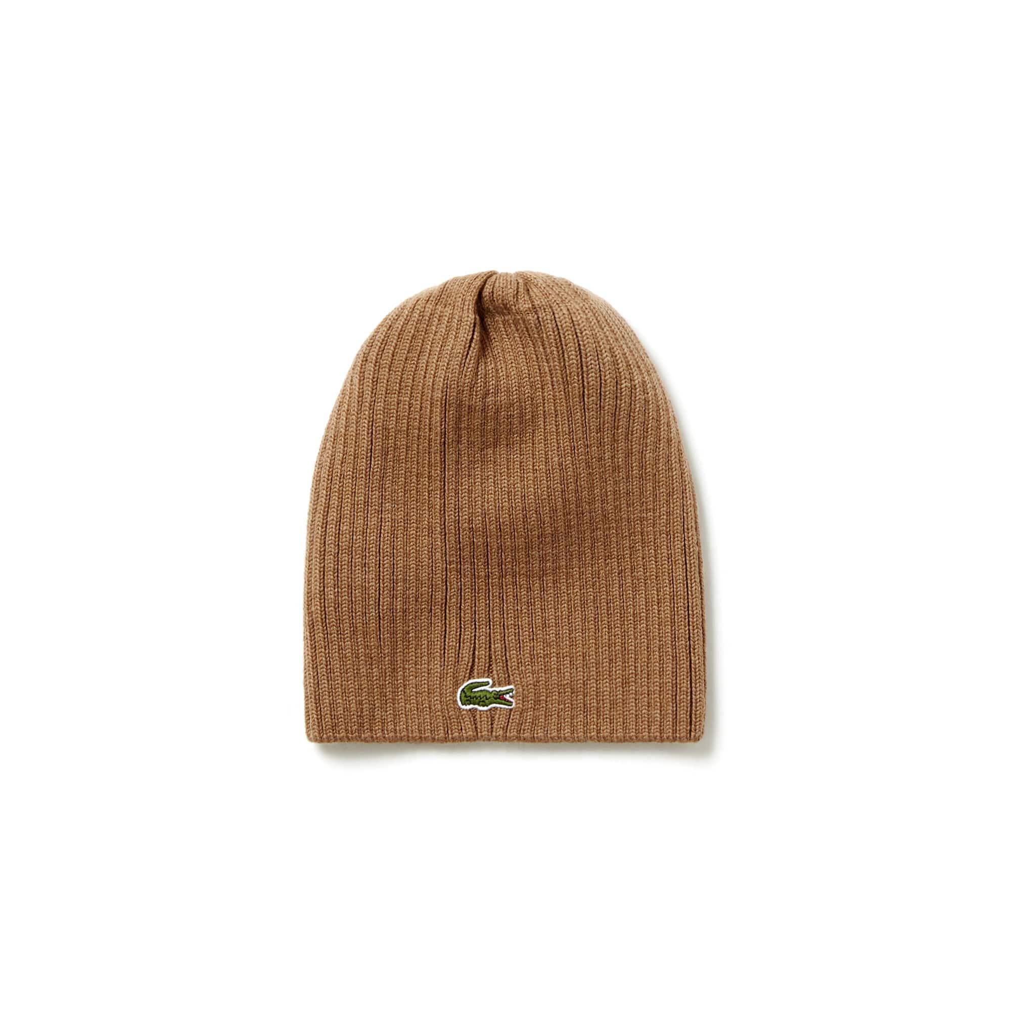 Bonnet en laine côtelée