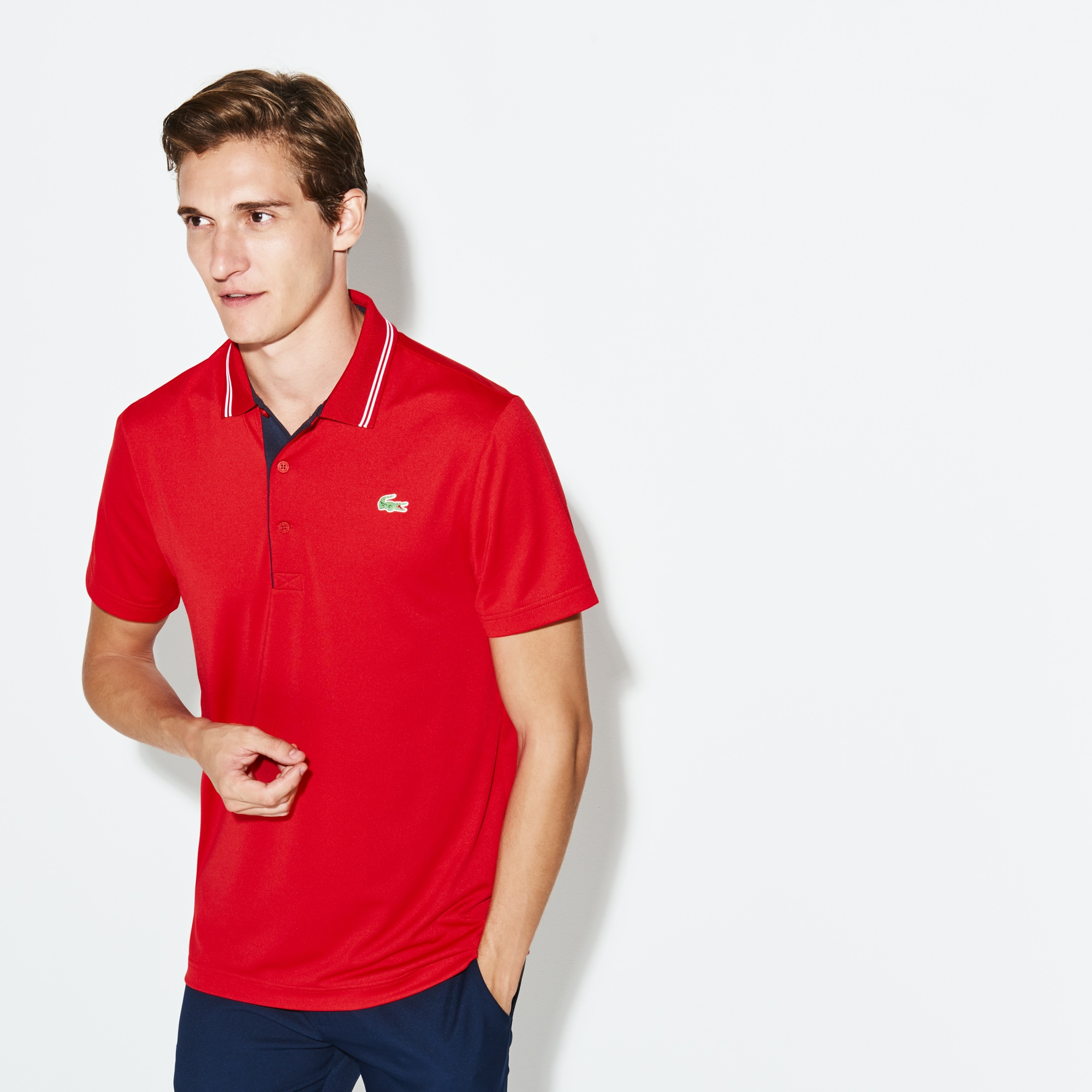 Polo Golf Lacoste SPORT en jersey stretch technique avec marquage