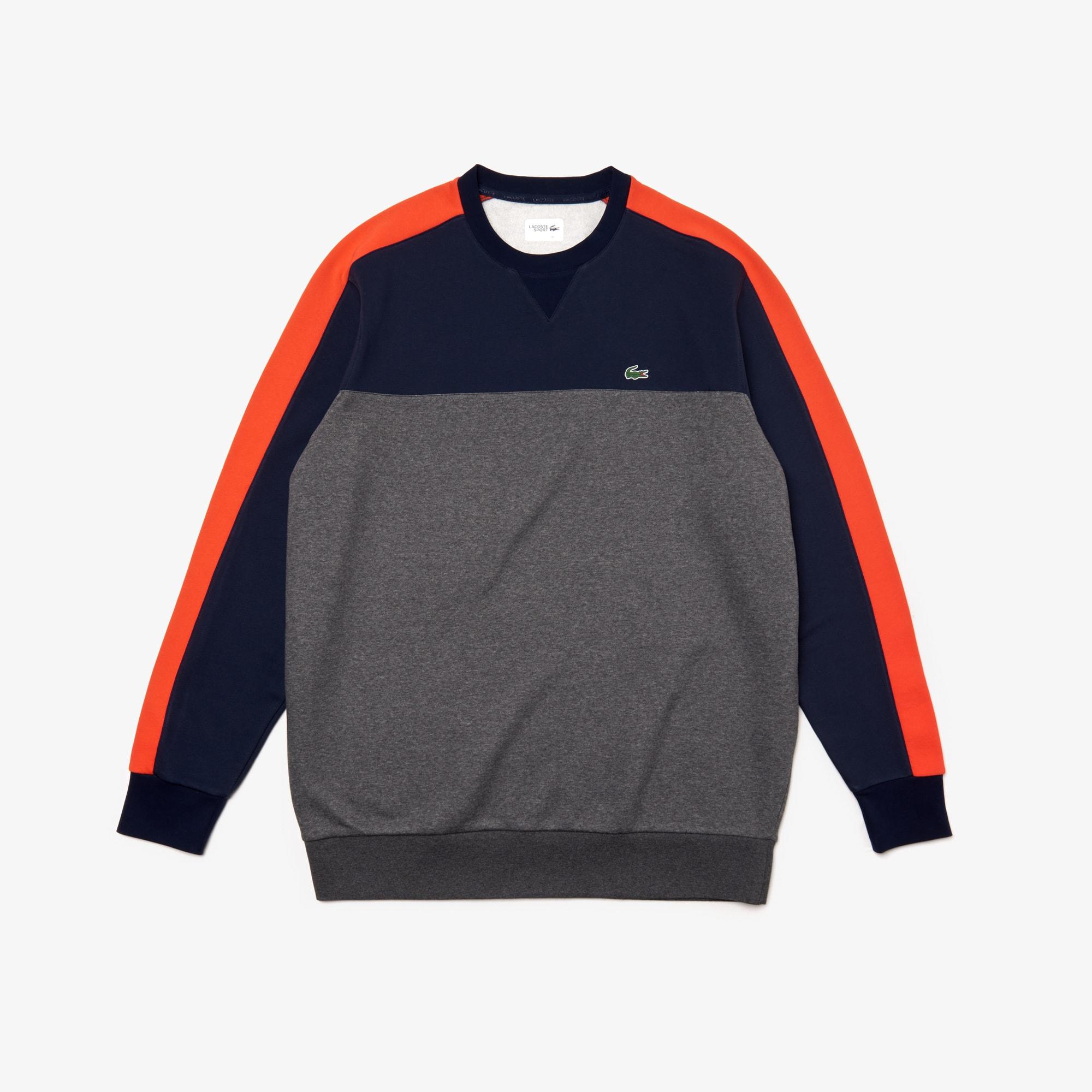 4bf7a264da2 Sweatshirt col rond Lacoste Sport grande largeur color-block
