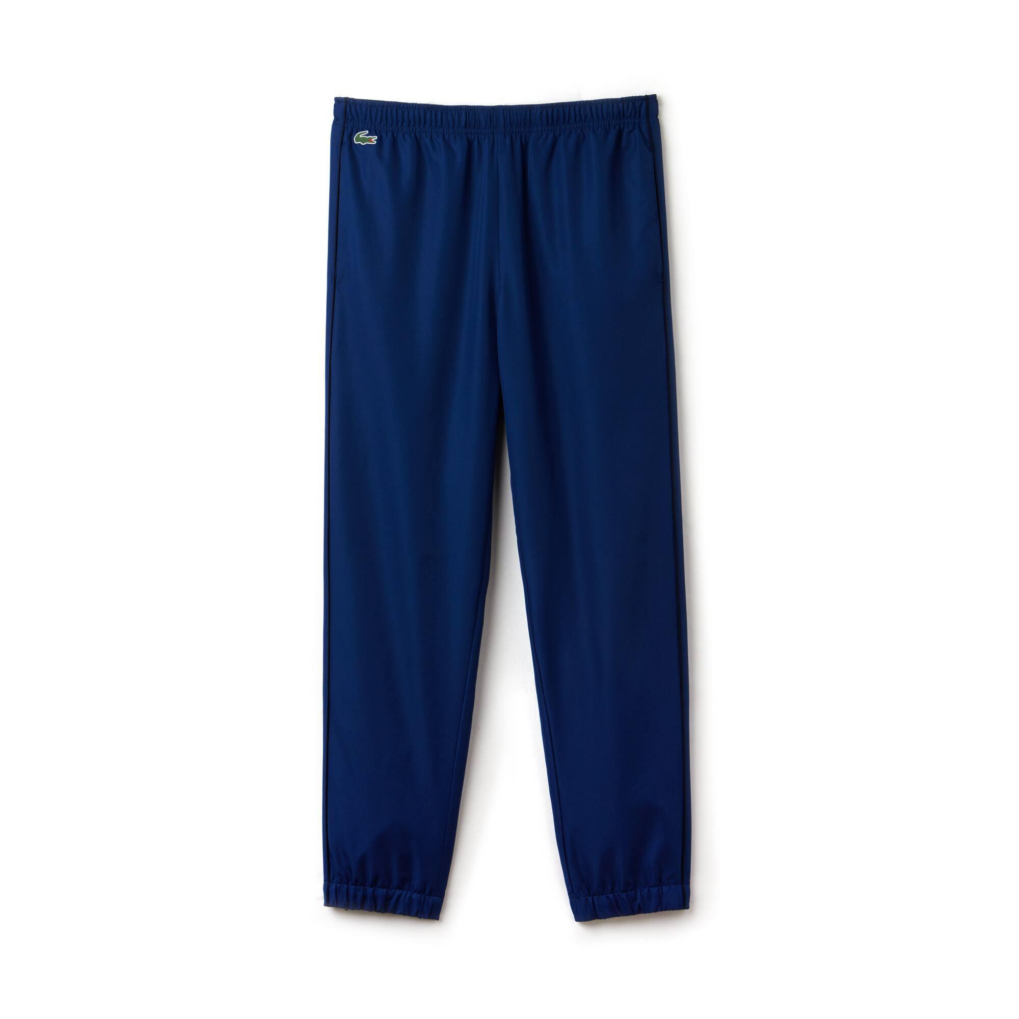 Pantalon de survêtement Lacoste SPORT en taffetas avec piping