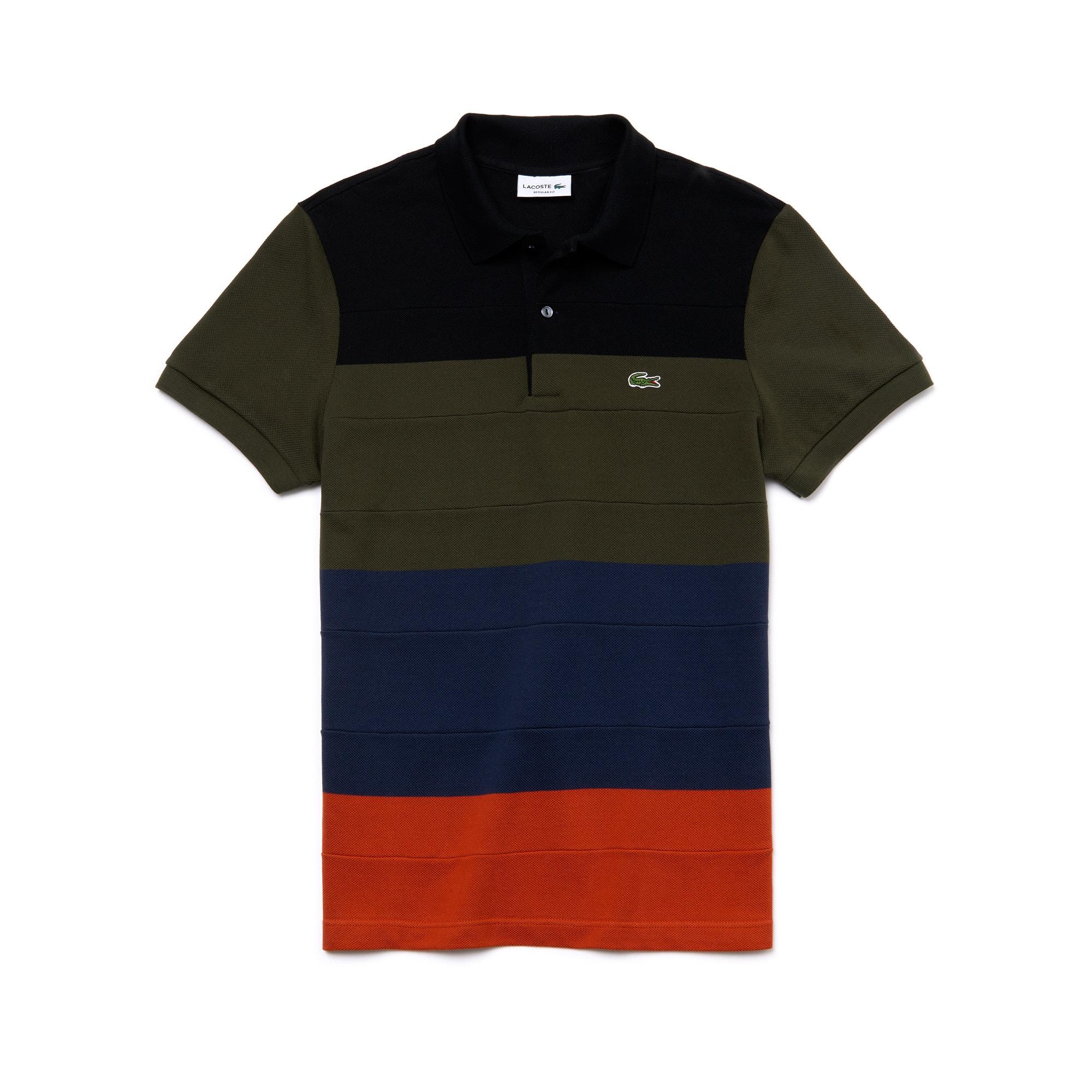 Polo regular fit Lacoste en piqué de coton color block