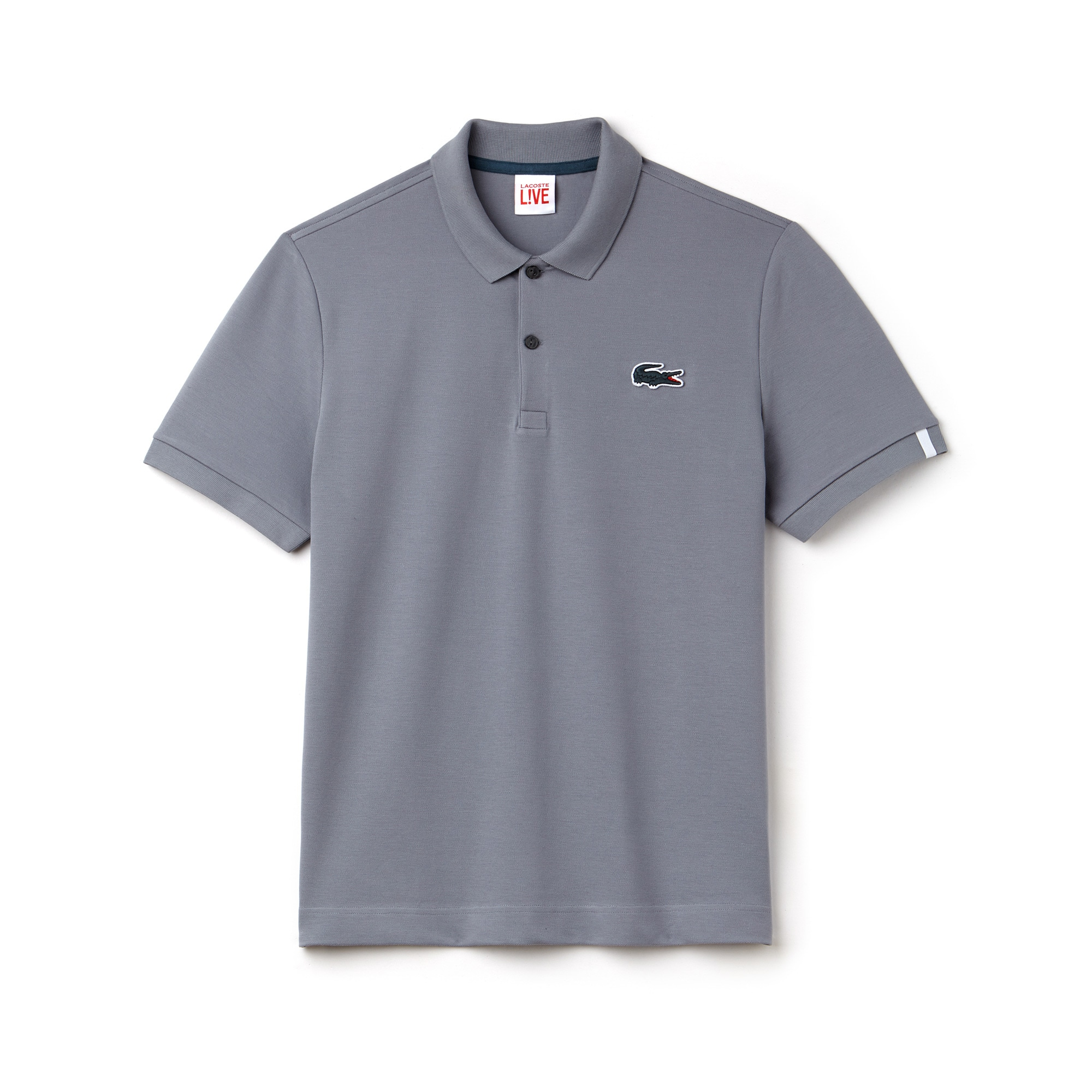 Polo slim fit Lacoste LIVE en mini piqué stretch uni