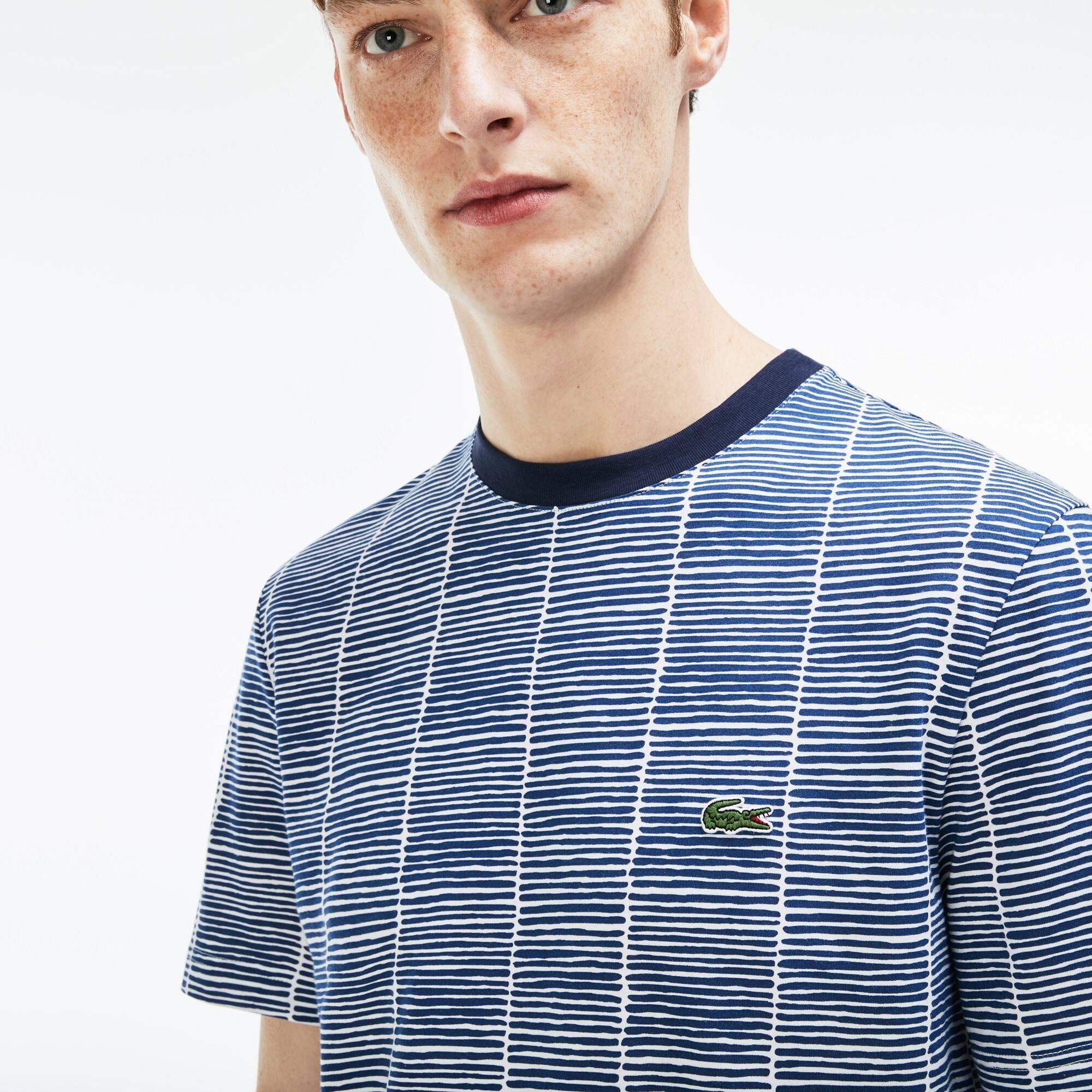 T-shirt col rond en jersey de coton imprimé