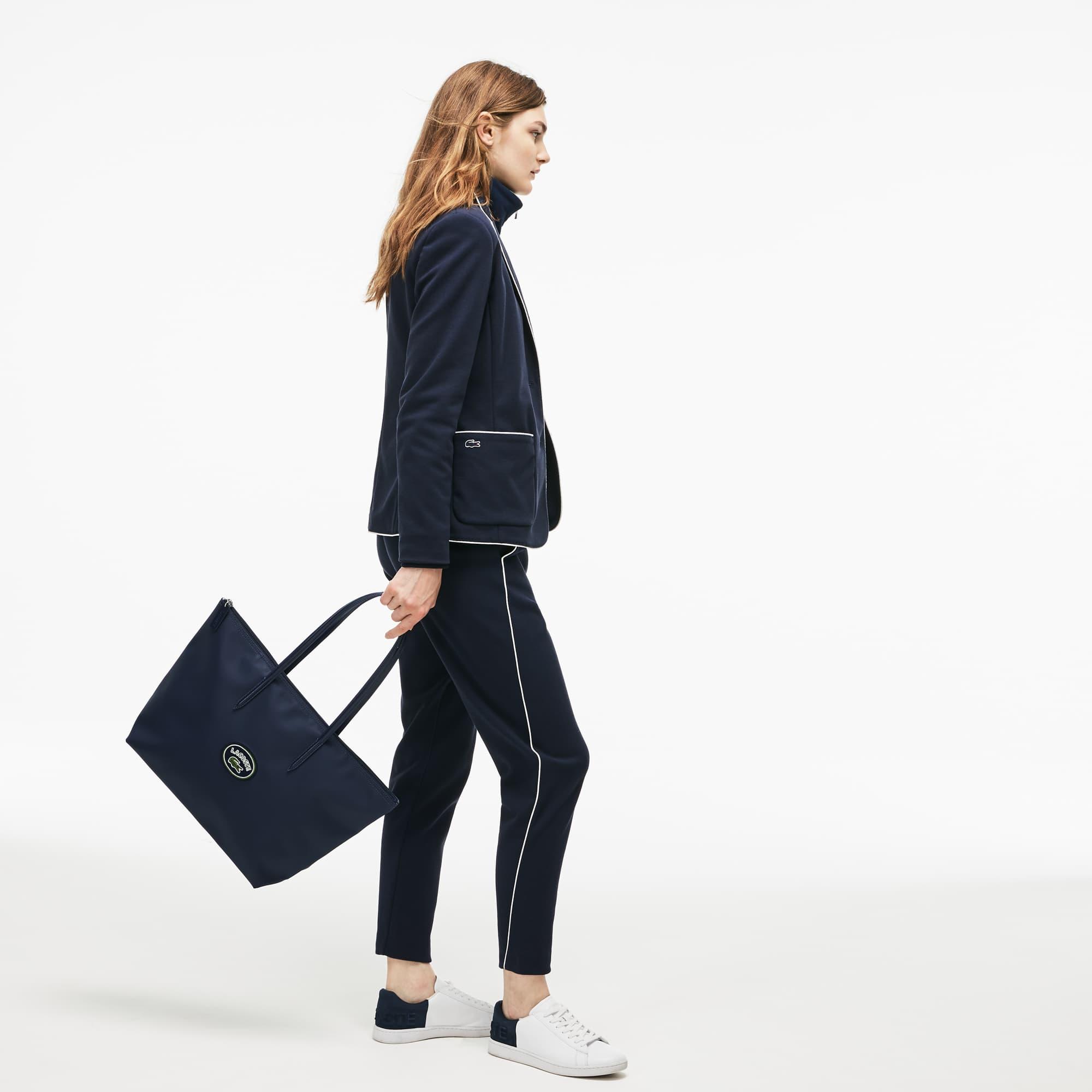 Grand sac cabas zippé L.12.12 Concept avec écusson Lacoste