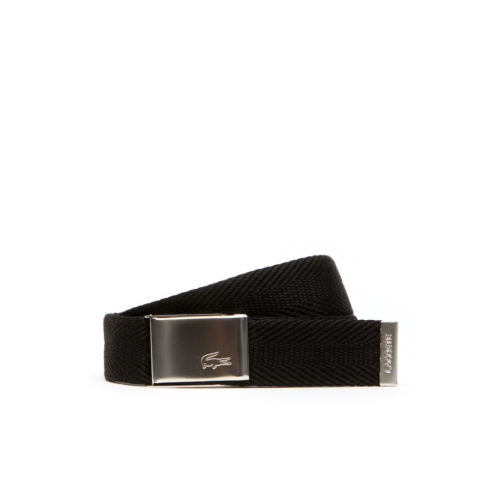 Ceinture sangle boucle Édition Made in France   LACOSTE 38a4acd9cc1