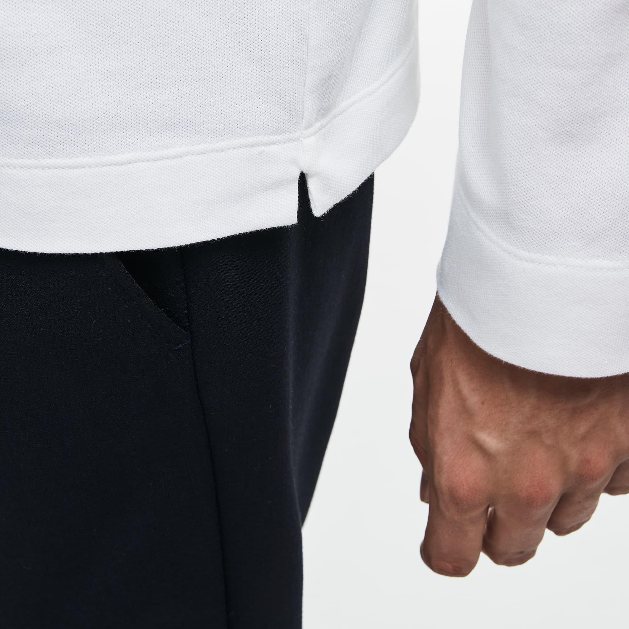Lacoste - Paris Polo Regular Fit Lacoste à manches longues en piqué de coton stretch - 7