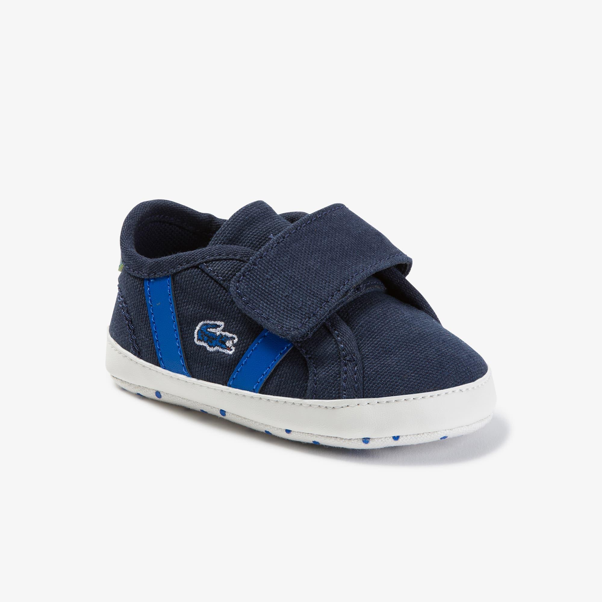 Lacoste Sneakers Sideline bébé en toile Taille 17 Marine/vert