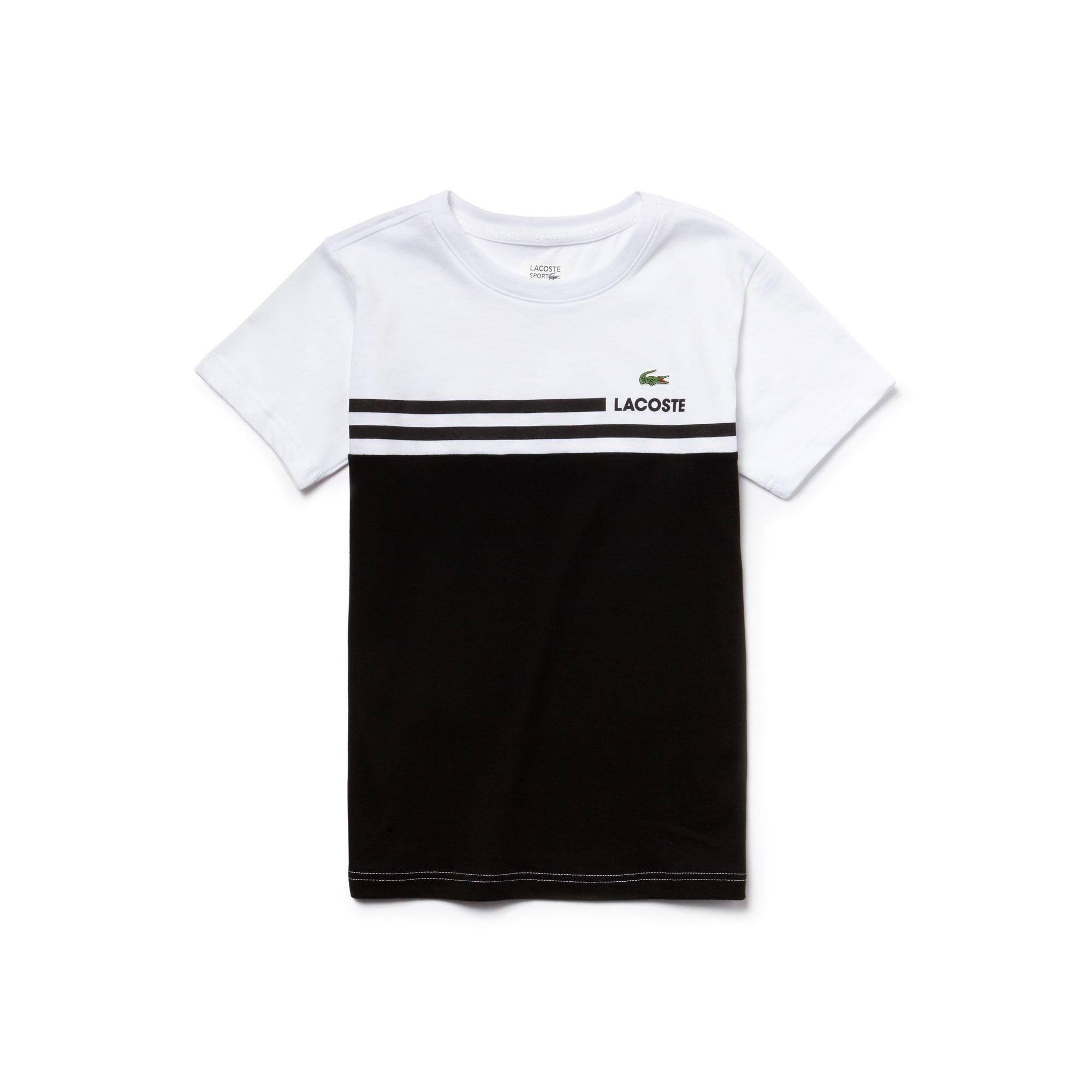 T-shirt Garçon Tennis Lacoste SPORT en jersey technique color block