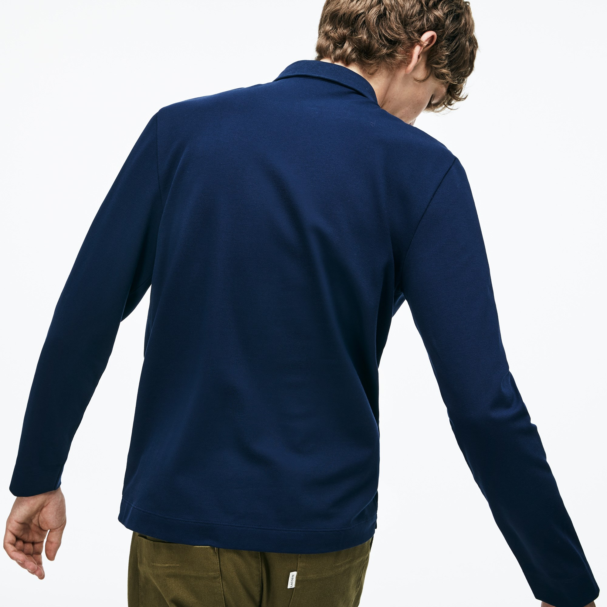 Lacoste - Paris Polo Regular Fit Lacoste à manches longues en piqué de coton stretch - 2