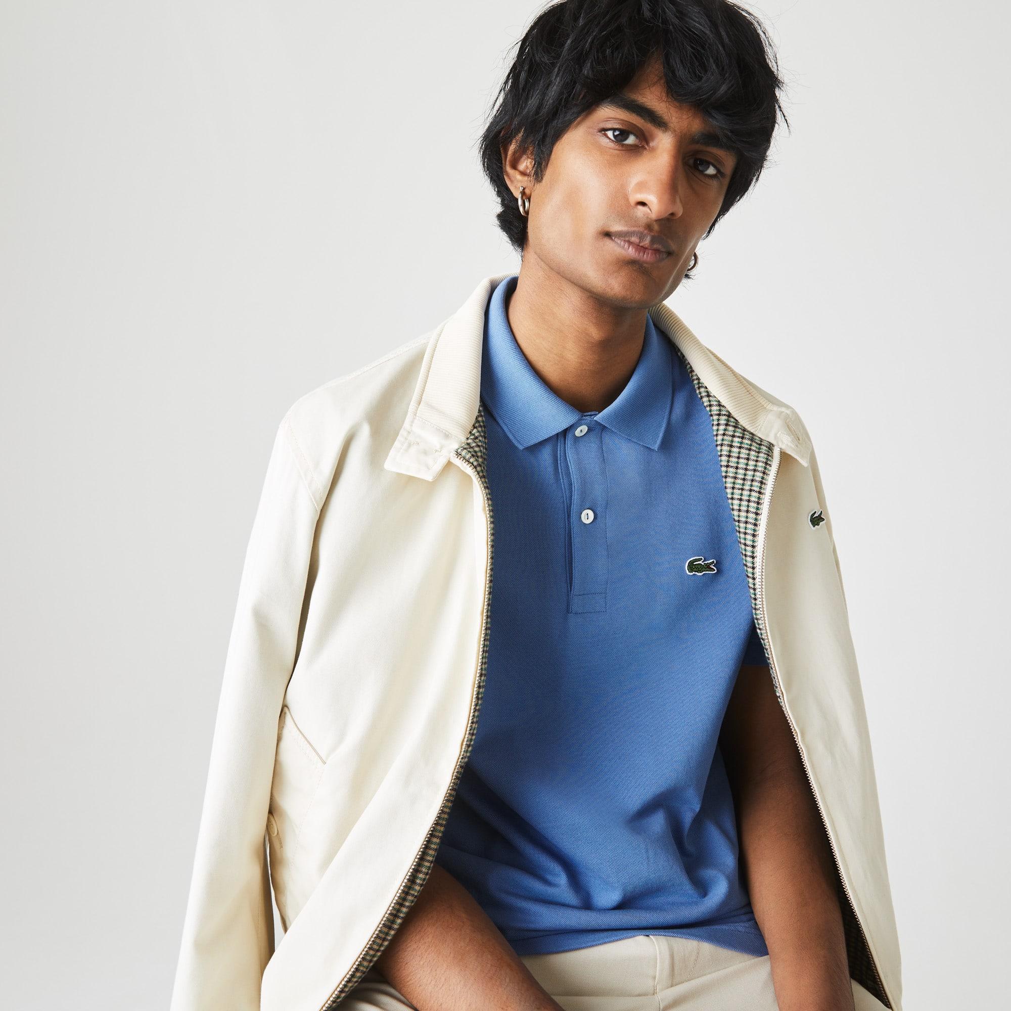 Polo Lacoste slim fit en piqué de coton frais et léger Taille 7 - XXL Bleu
