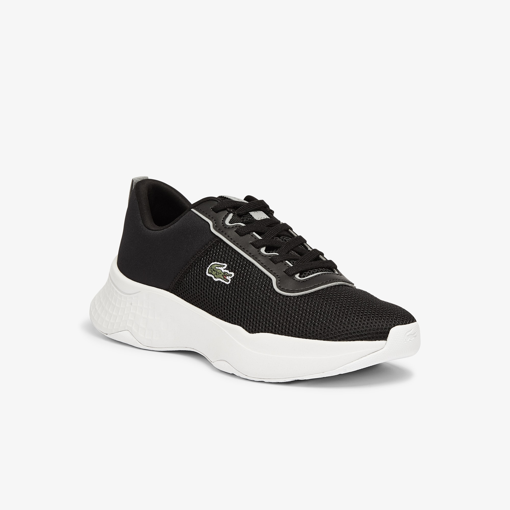 Lacoste Sneakers Court-Drive junior en tissu Taille 35.5 Noir/gris Foncé