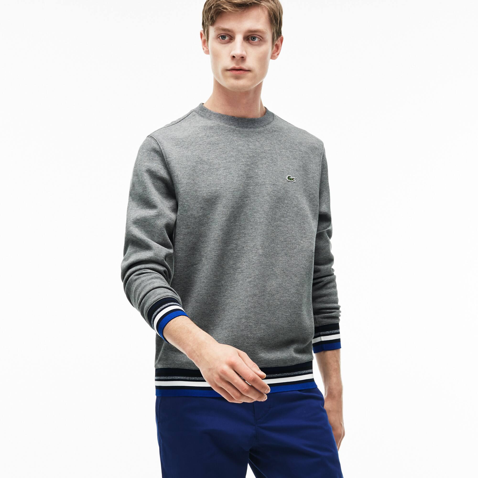 Sweatshirt en molleton avec details rayés