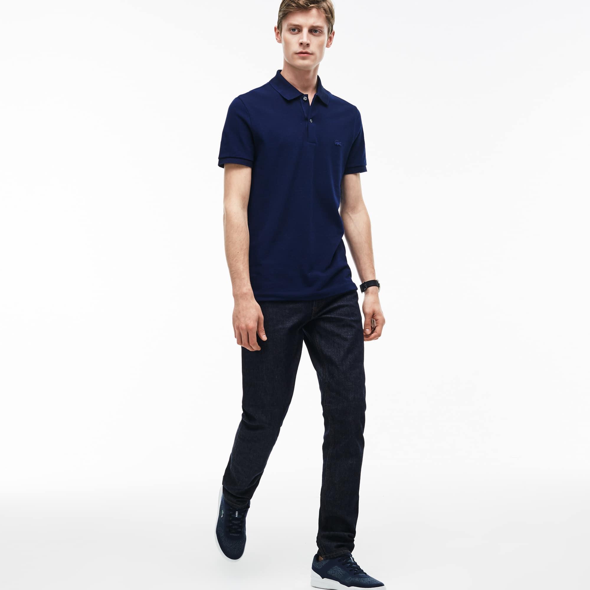 Jean 5 poches slim fit en denim de coton stretch