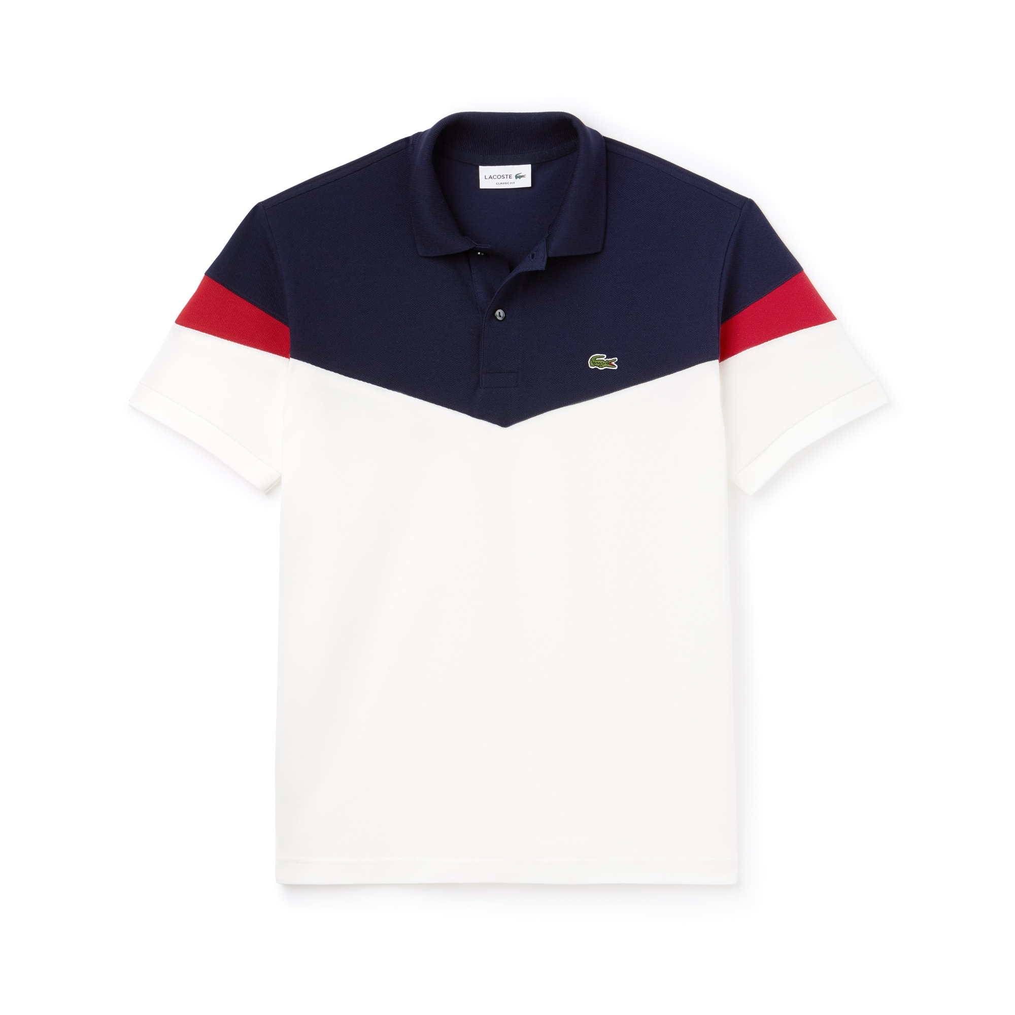 Polo Classic Fit Lacoste En Petit Piqué De Coton Color Block by Lacoste