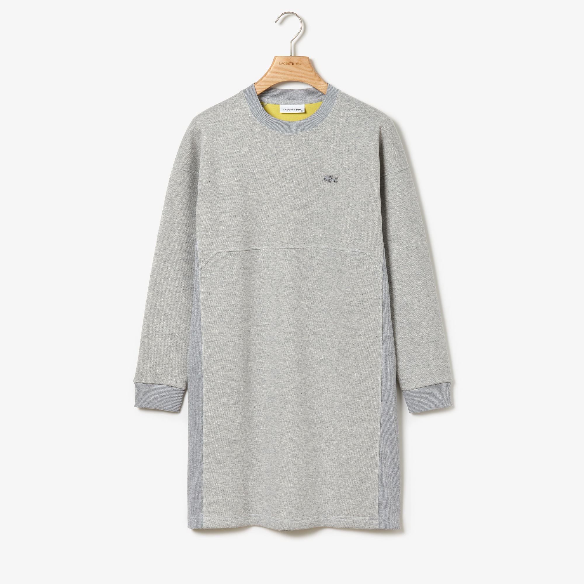 Robe sweatshirt Lacoste Motion double face à empiècements côtelés