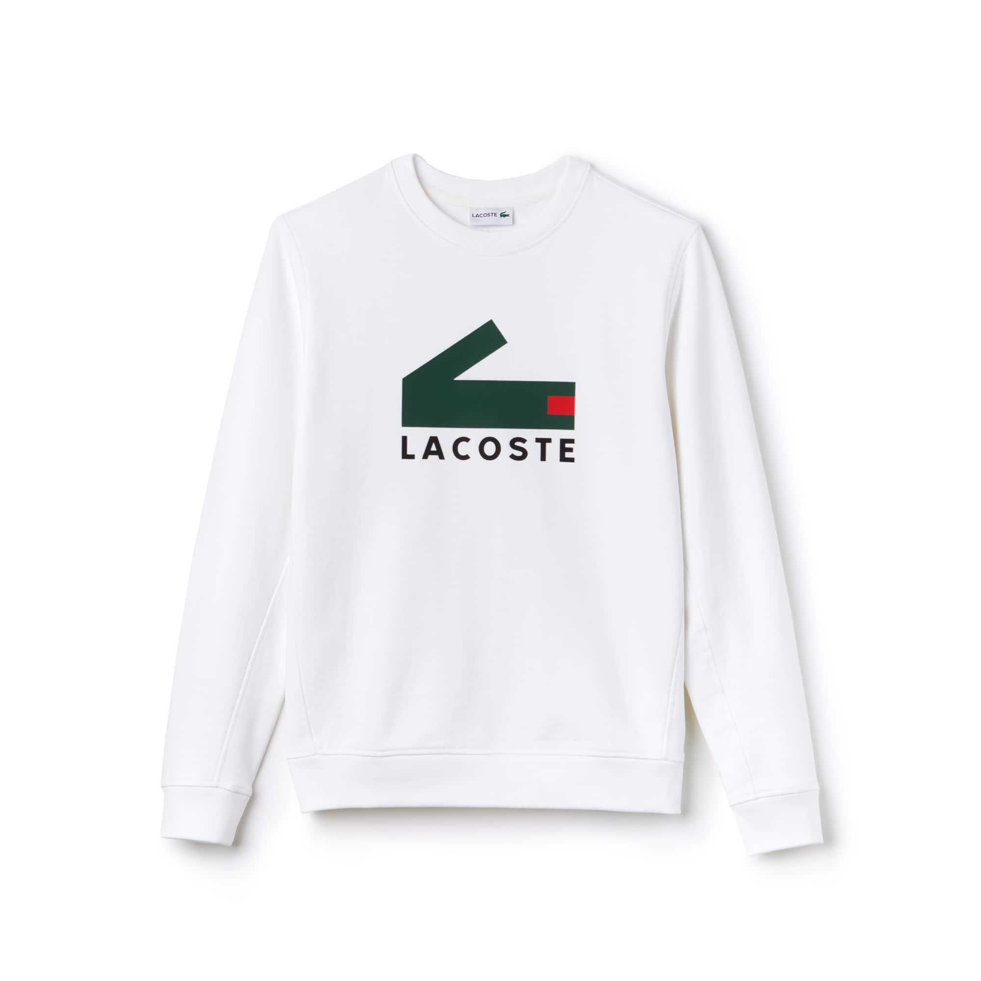 Sweatshirt en molleton de coton avec impression crocodile