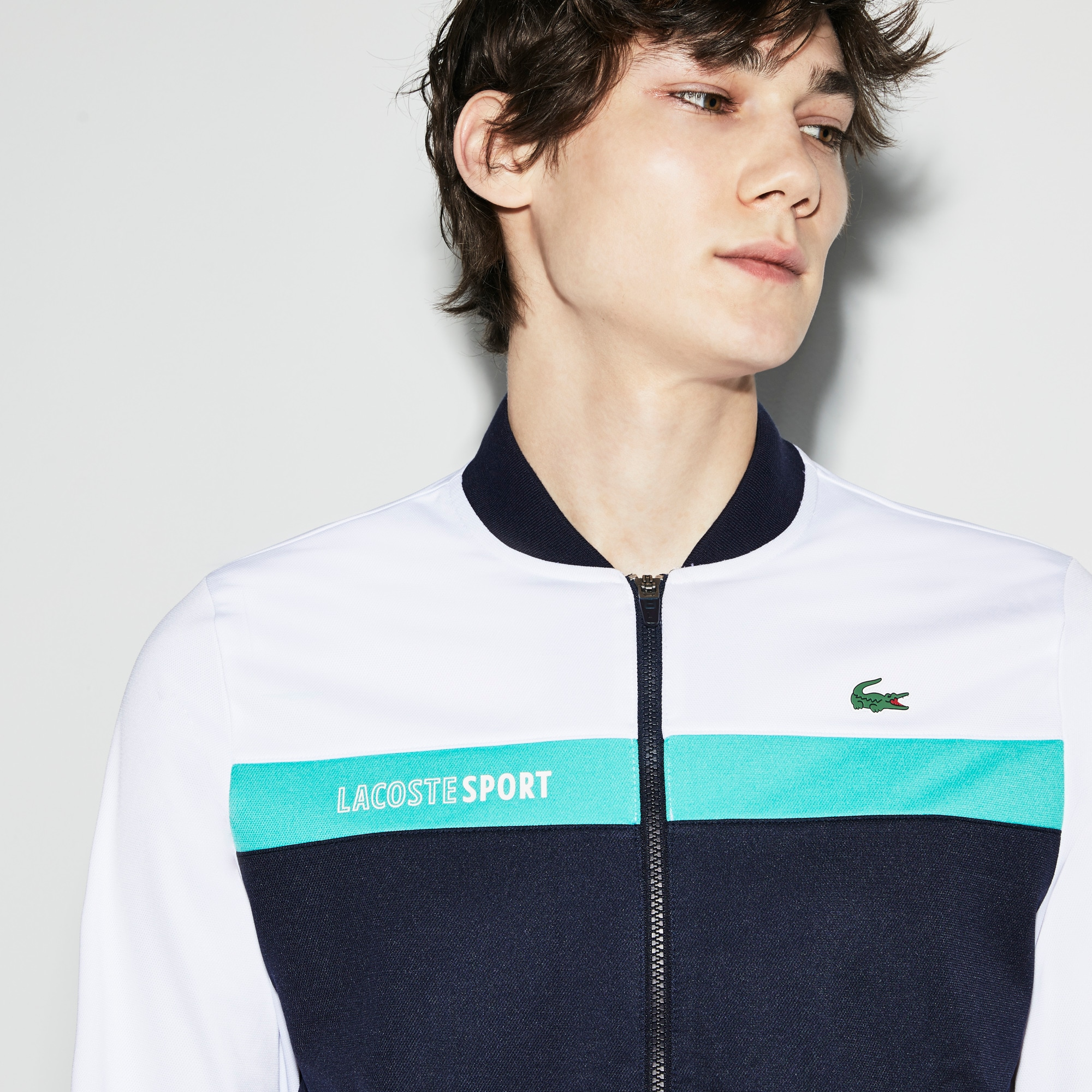 Sweatshirt zippé Tennis Lacoste SPORT color block