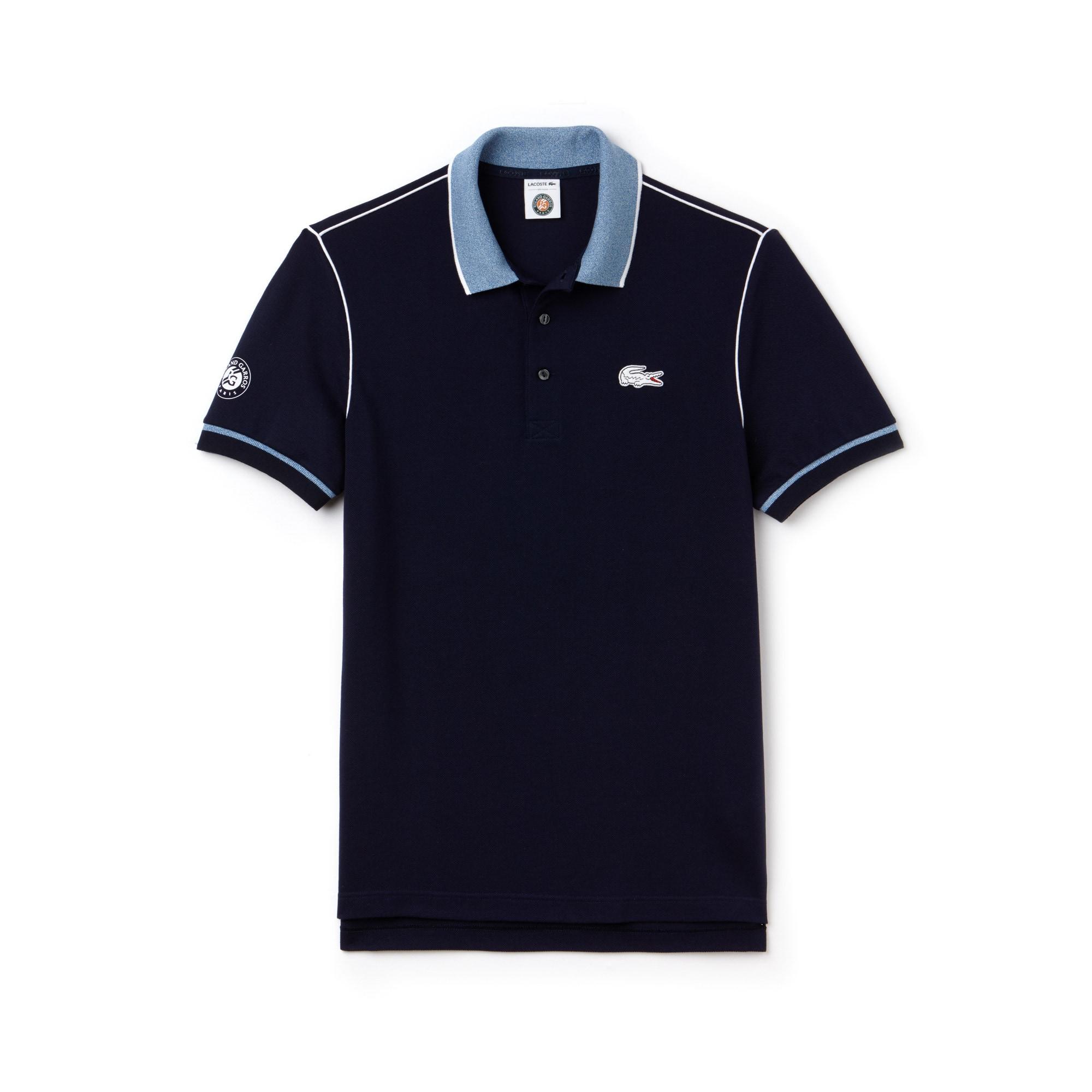 Polo Lacoste SPORT en piqué avec piping Édition Roland Garros