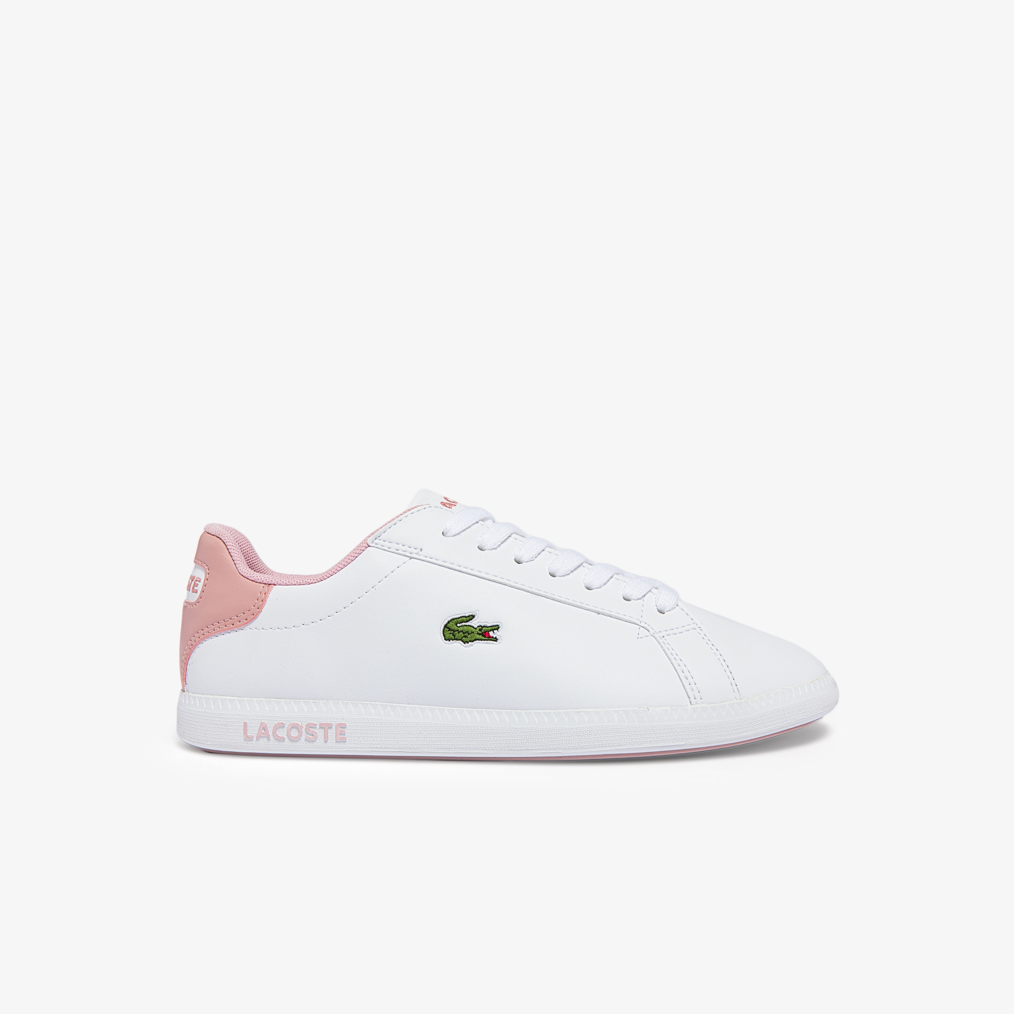 Lacoste Sneakers Graduate junior synthétique Taille 37.5 Blanc/rose