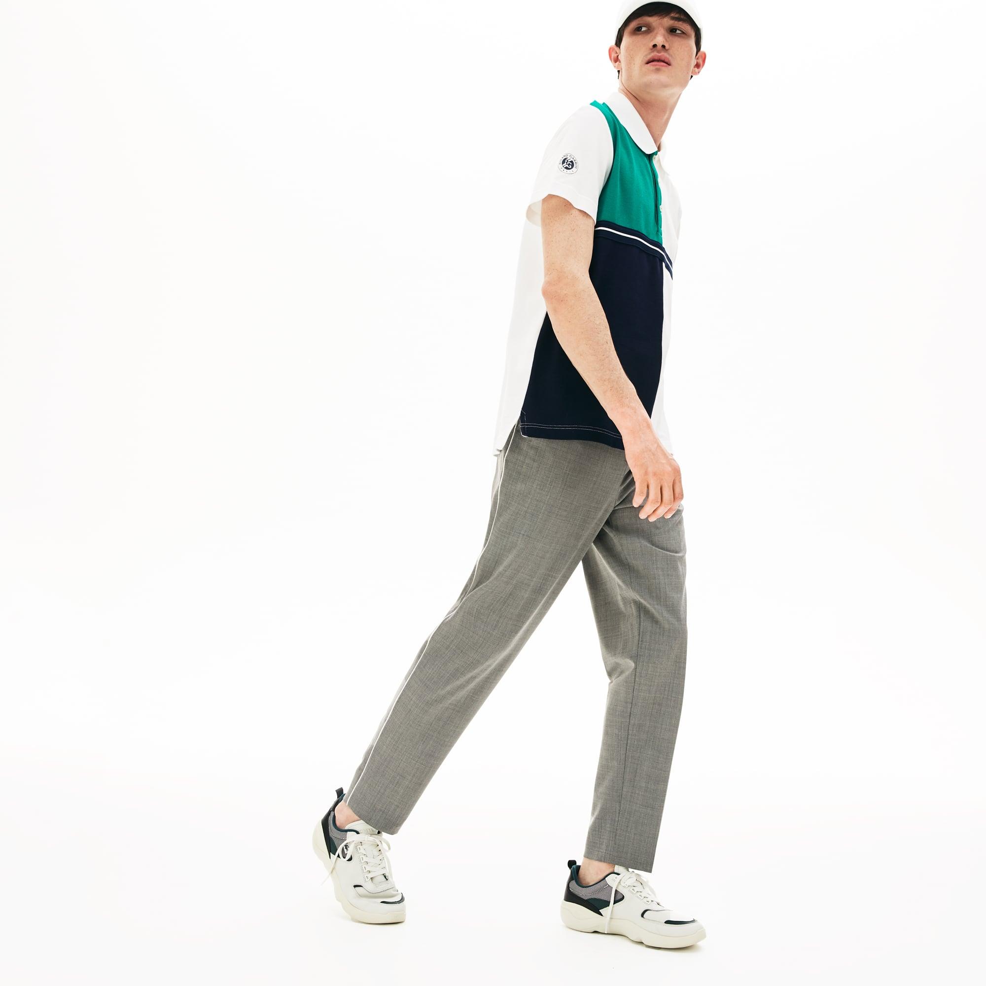 7c0becaea1 Pantalon chino regular fit en toile stretch et légère
