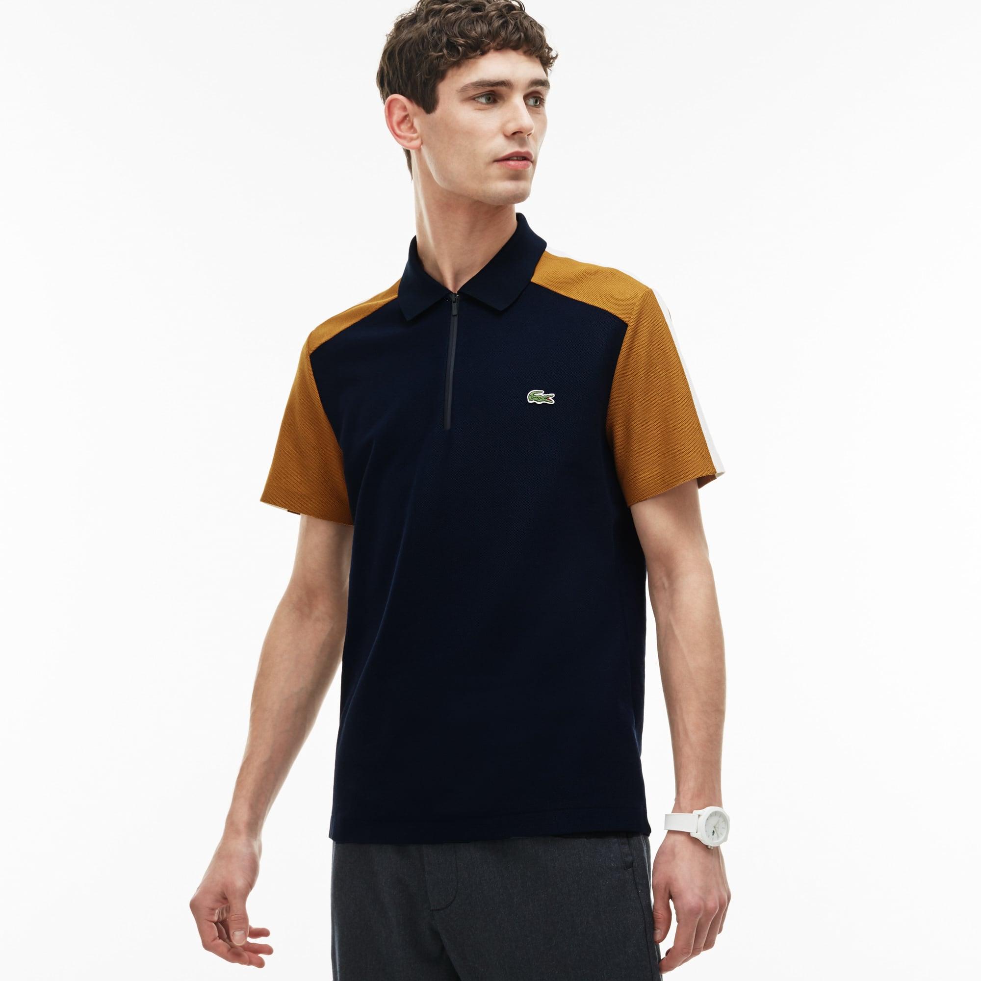 Polo regular fit Lacoste Made in France en piqué color block