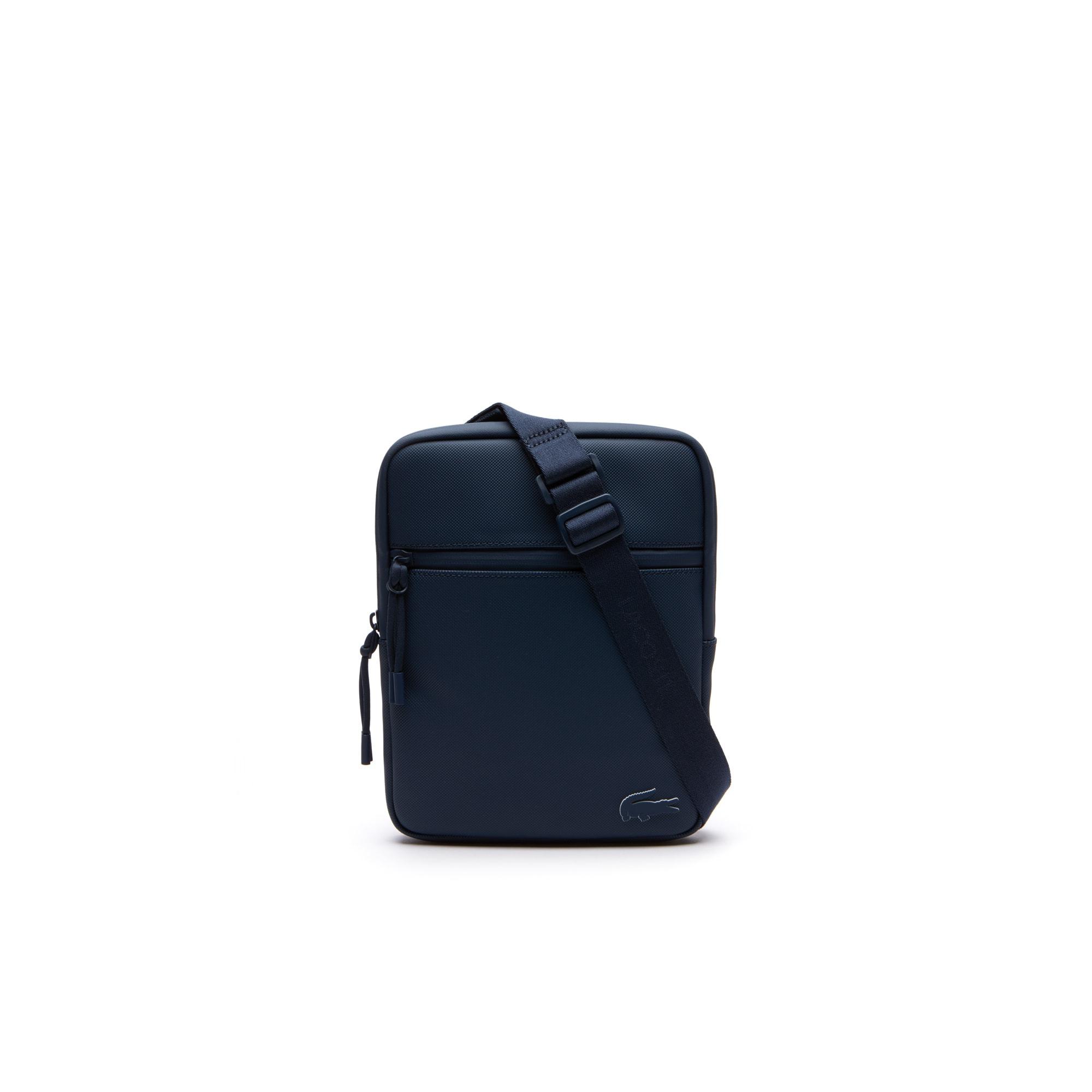 Sacoche plate zippée L.12.12 Concept petit piqué monochrome
