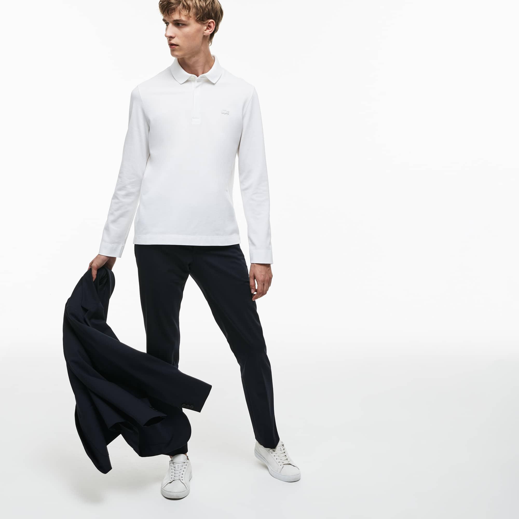 Lacoste - Paris Polo Regular Fit Lacoste à manches longues en piqué de coton stretch - 4