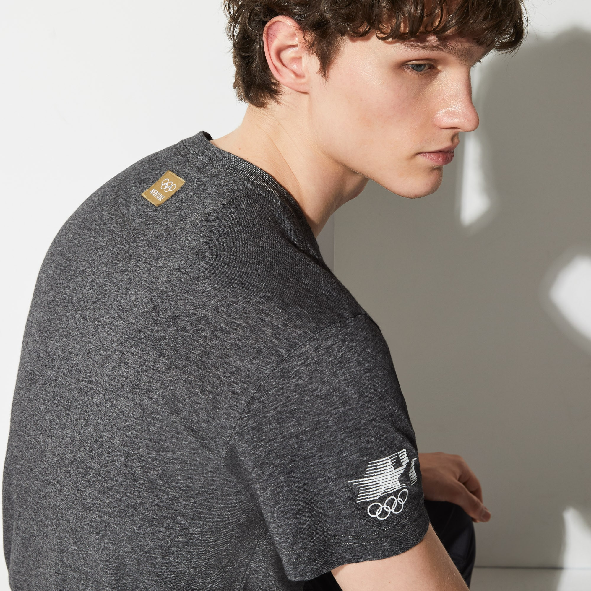 T-shirt col rond Olympic Heritage Collection by Lacoste en coton imprimé