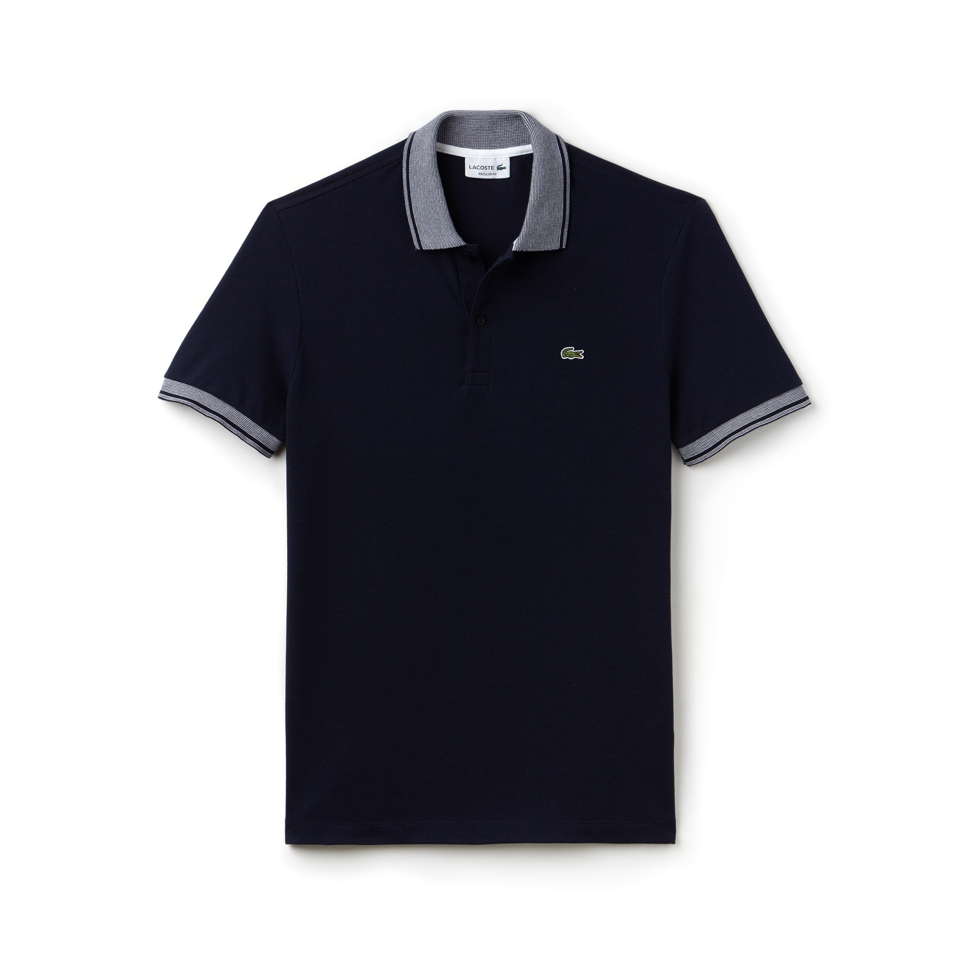 Polo regular fit Lacoste en petit piqué de coton avec piping