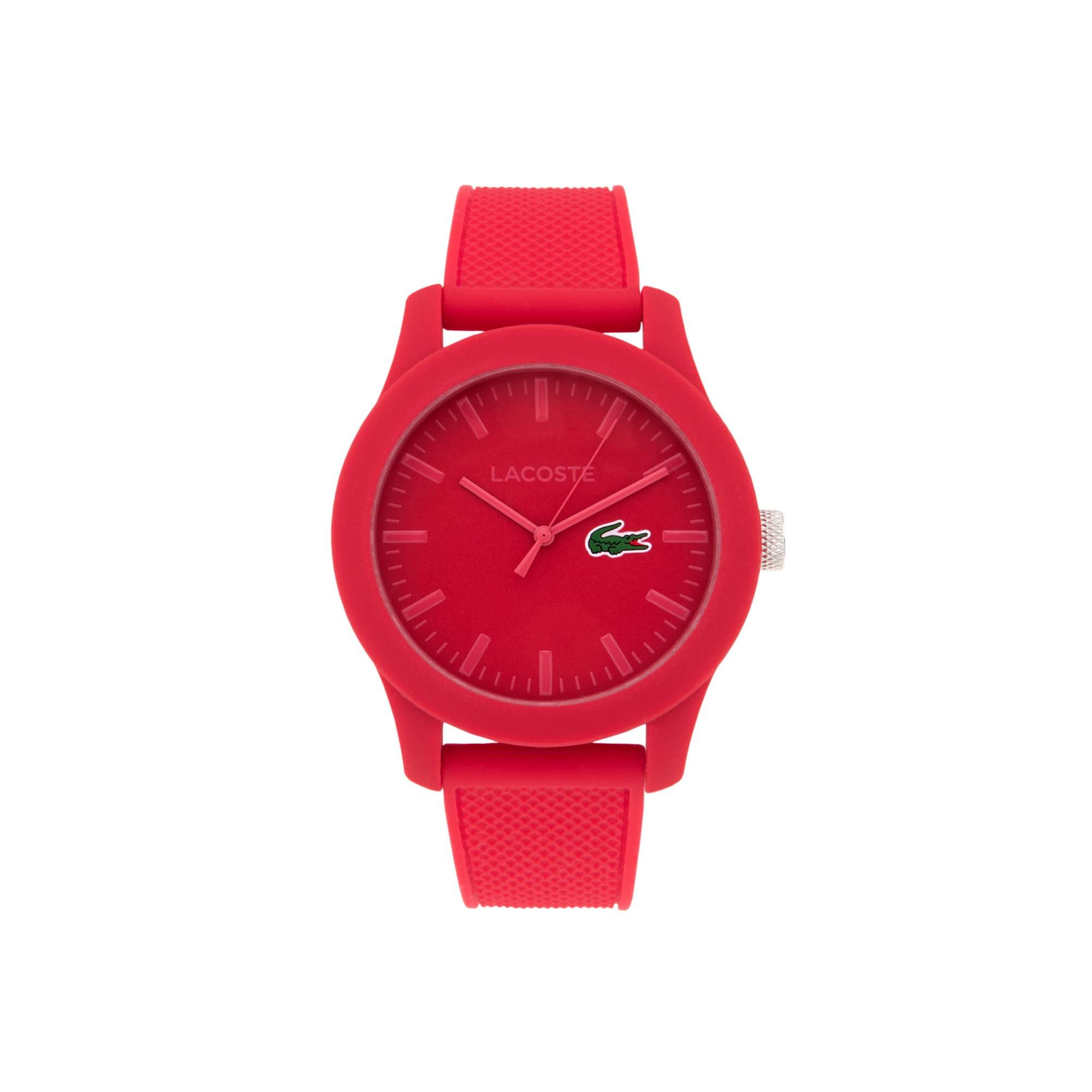 Montre Lacoste.12.12 Homme avec Bracelet en Silicone Rouge