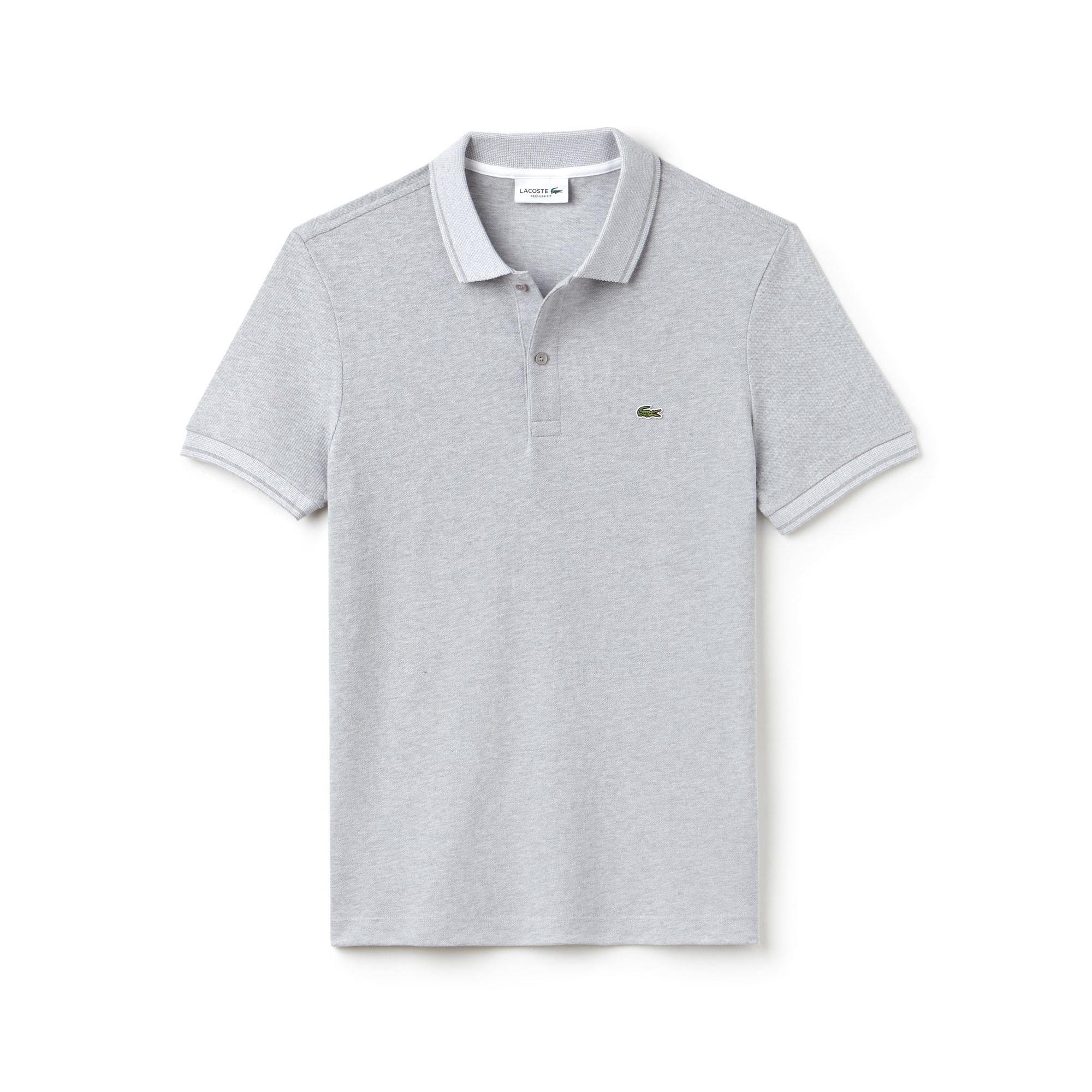 Polo regular fit Lacoste en petit piqué de coton avec piping