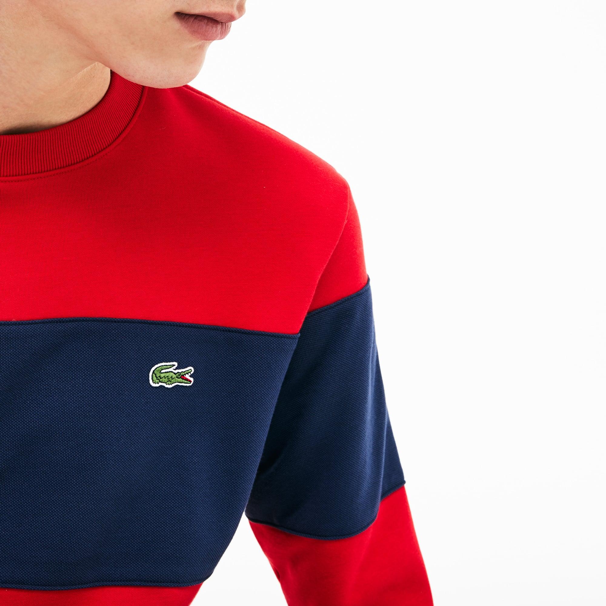 Sweatshirt De Color Block Lacoste Molleton Coton En Rond Col rnBqWZr