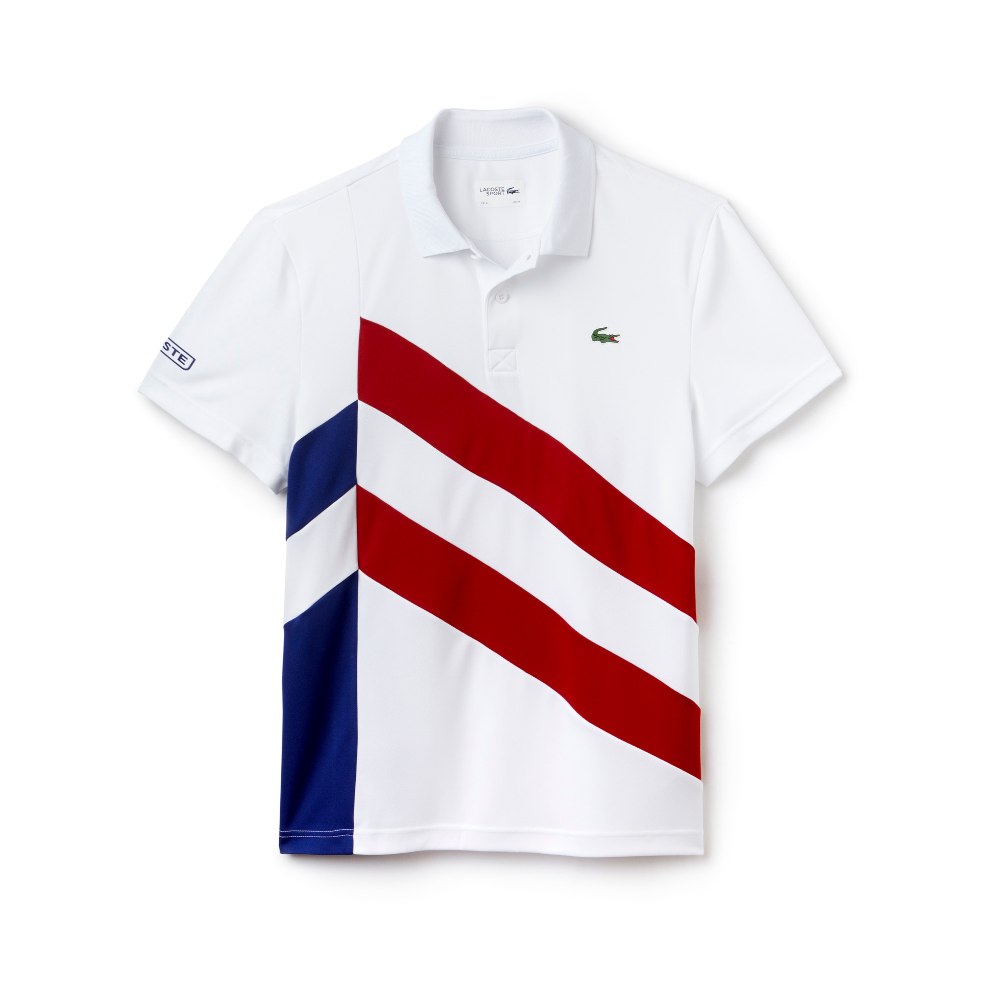 Polo Tennis Lacoste SPORT en piqué technique bandes color block
