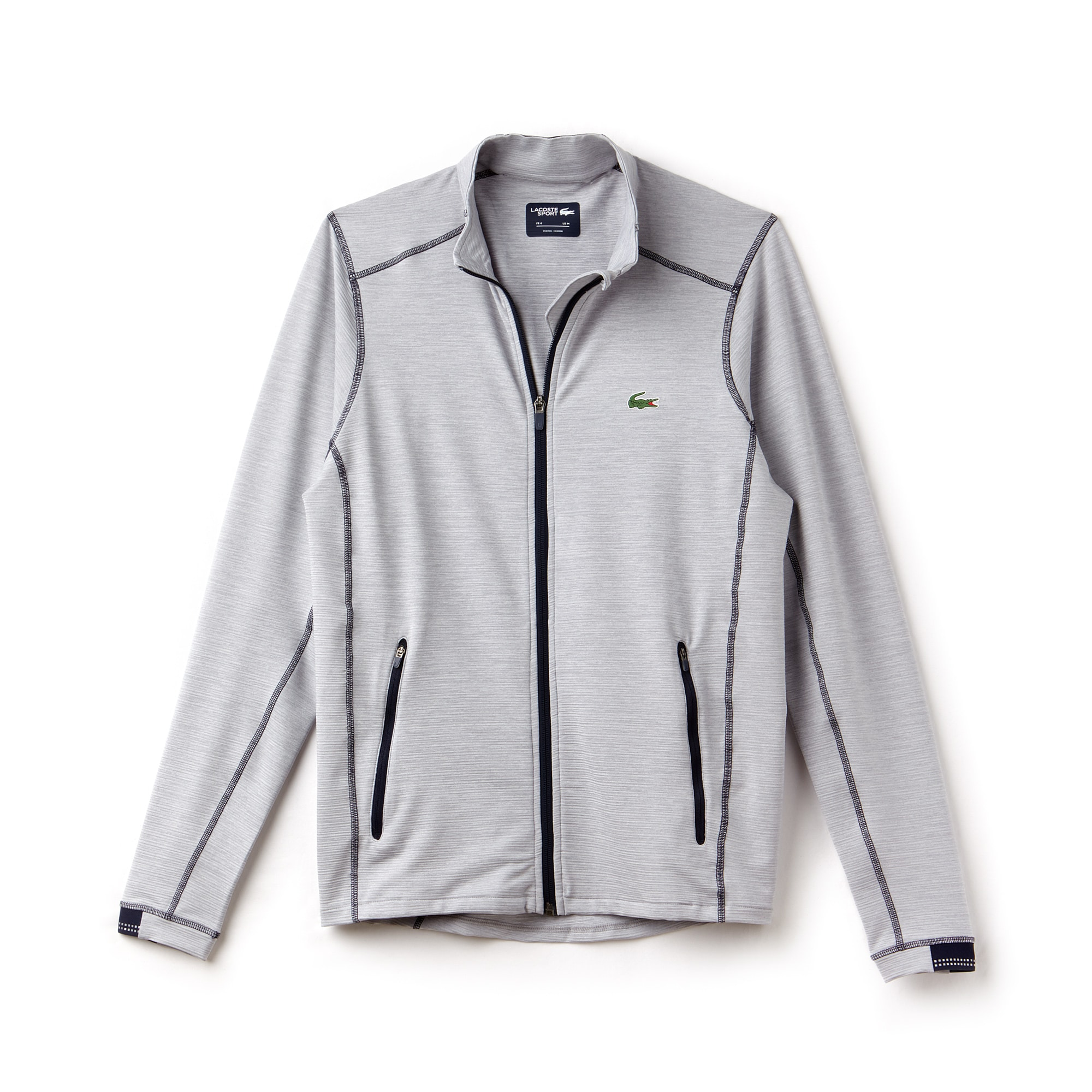 Sweatshirt zippé Golf Lacoste SPORT en midlayer flammé technique