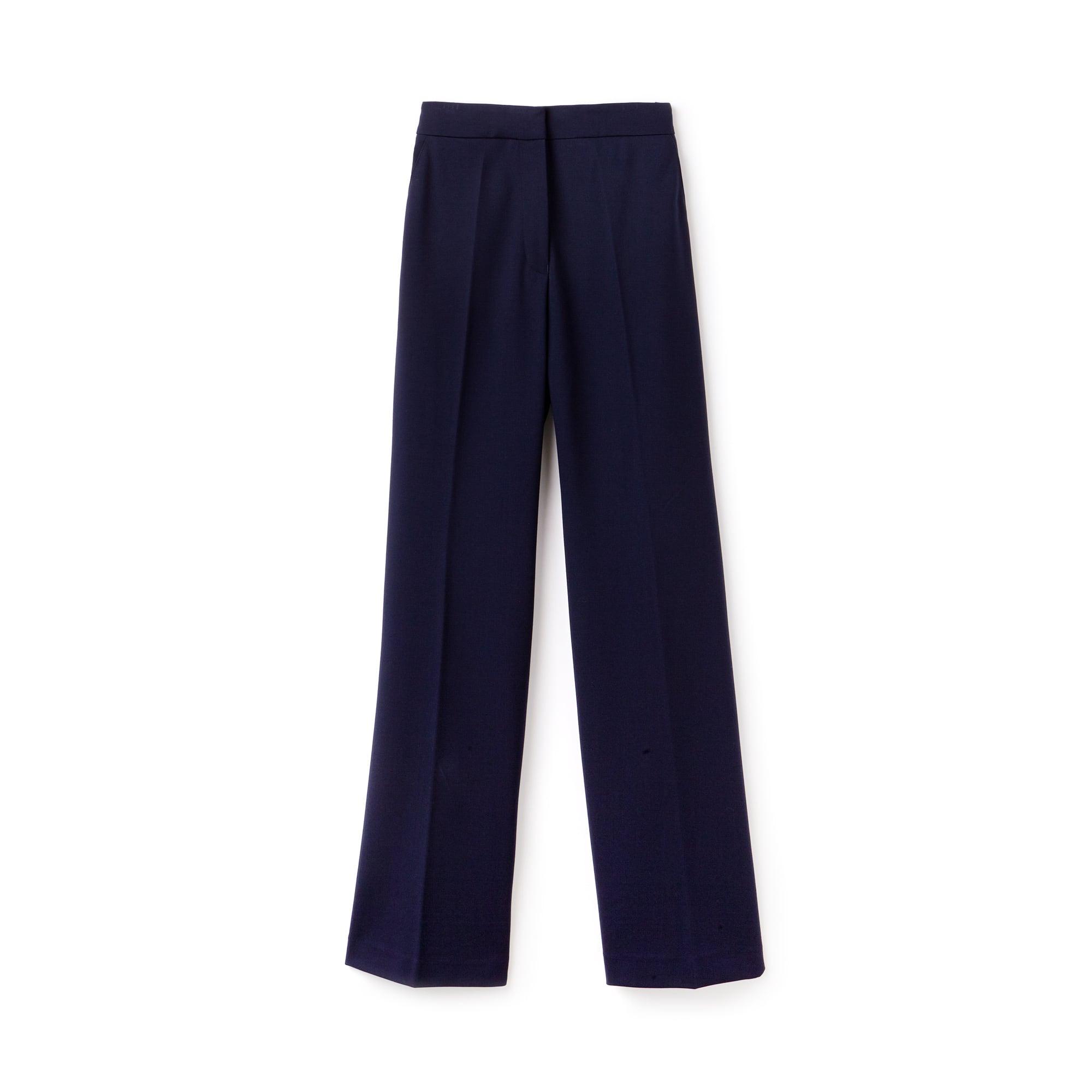 Pantalon fluide en maille milano stretch unie