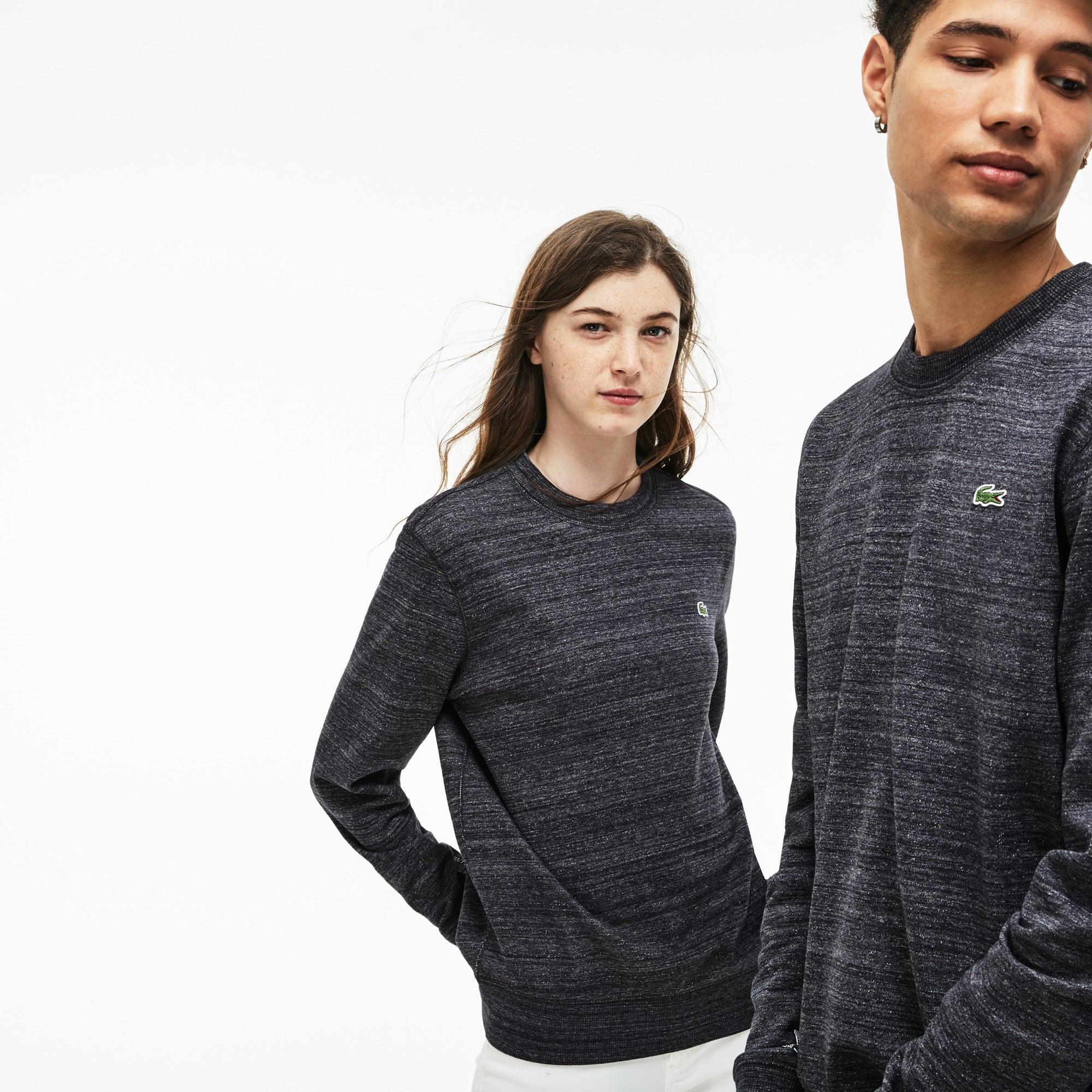 Sweatshirt col rond unisexe Lacoste LIVE en coton uni