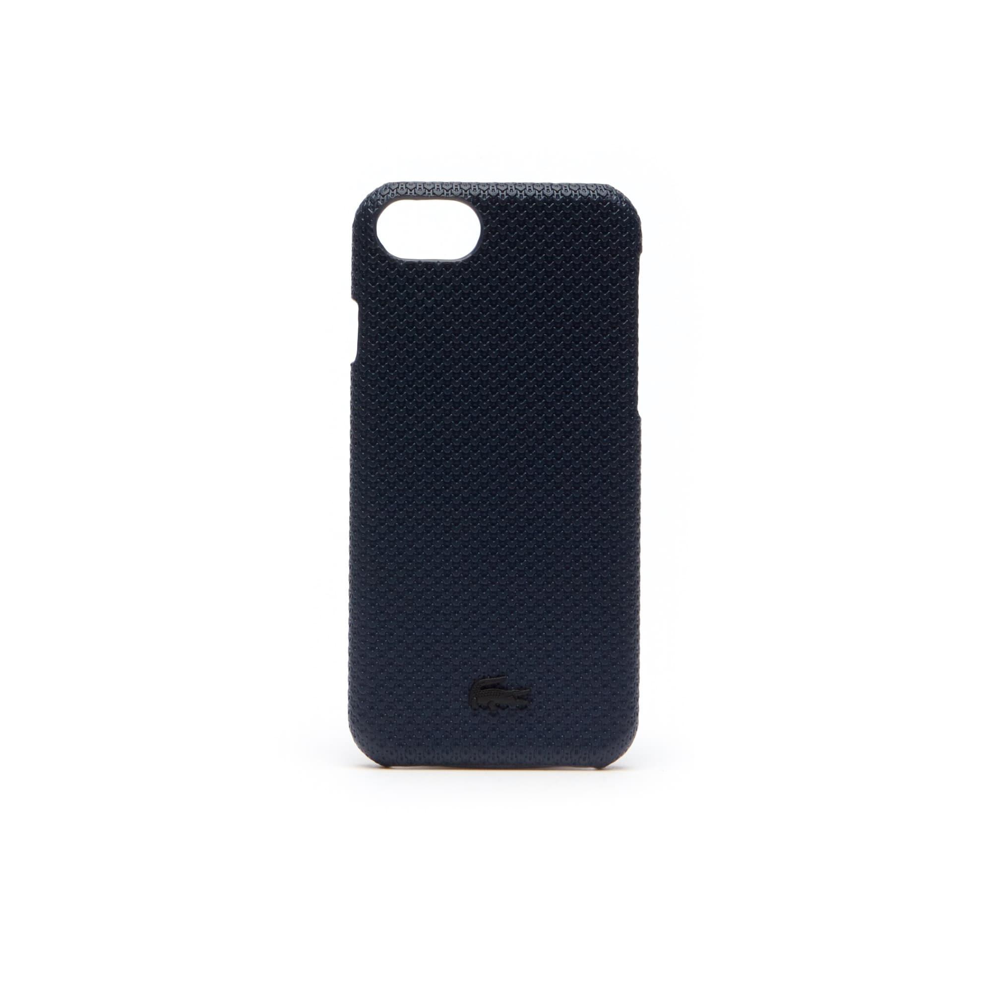 Coque iPhone 8 Chantaco en cuir piqué mat uni