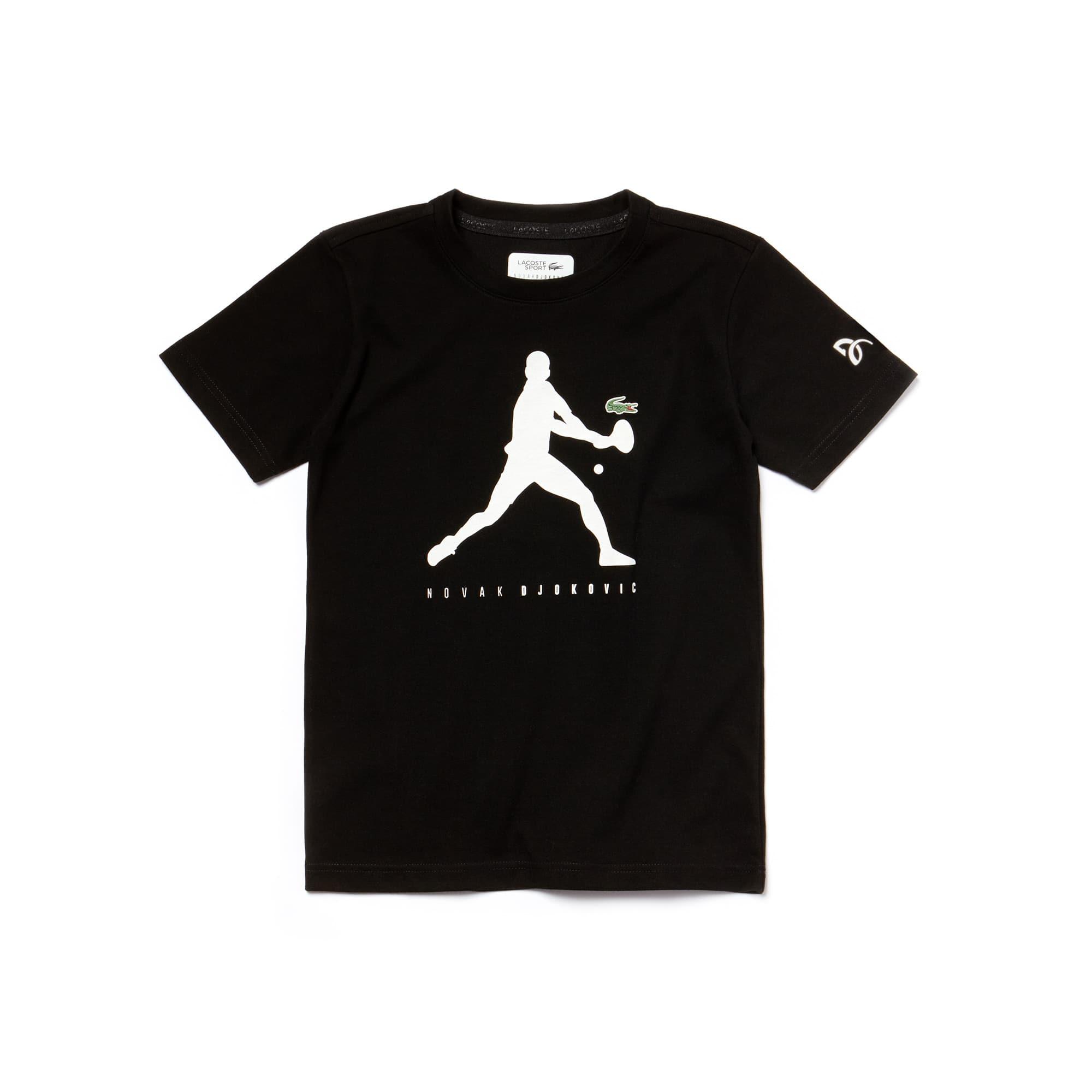 T-shirt Garçon Lacoste SPORT COLLECTION NOVAK DJOKOVIC SUPPORT WITH STYLE en jersey technique