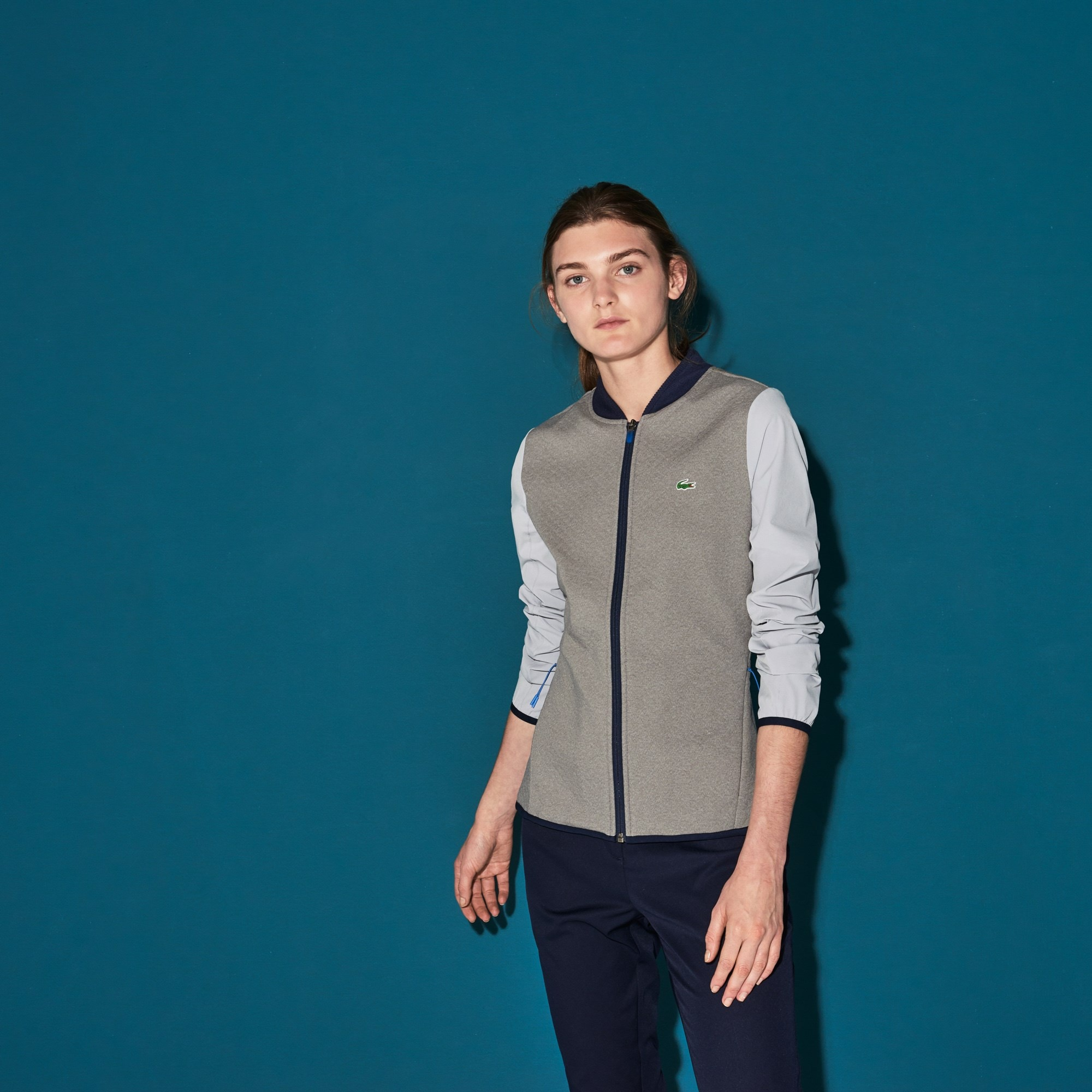 Sweatshirt zippé Golf Lacoste SPORT en midlayer technique déperlant