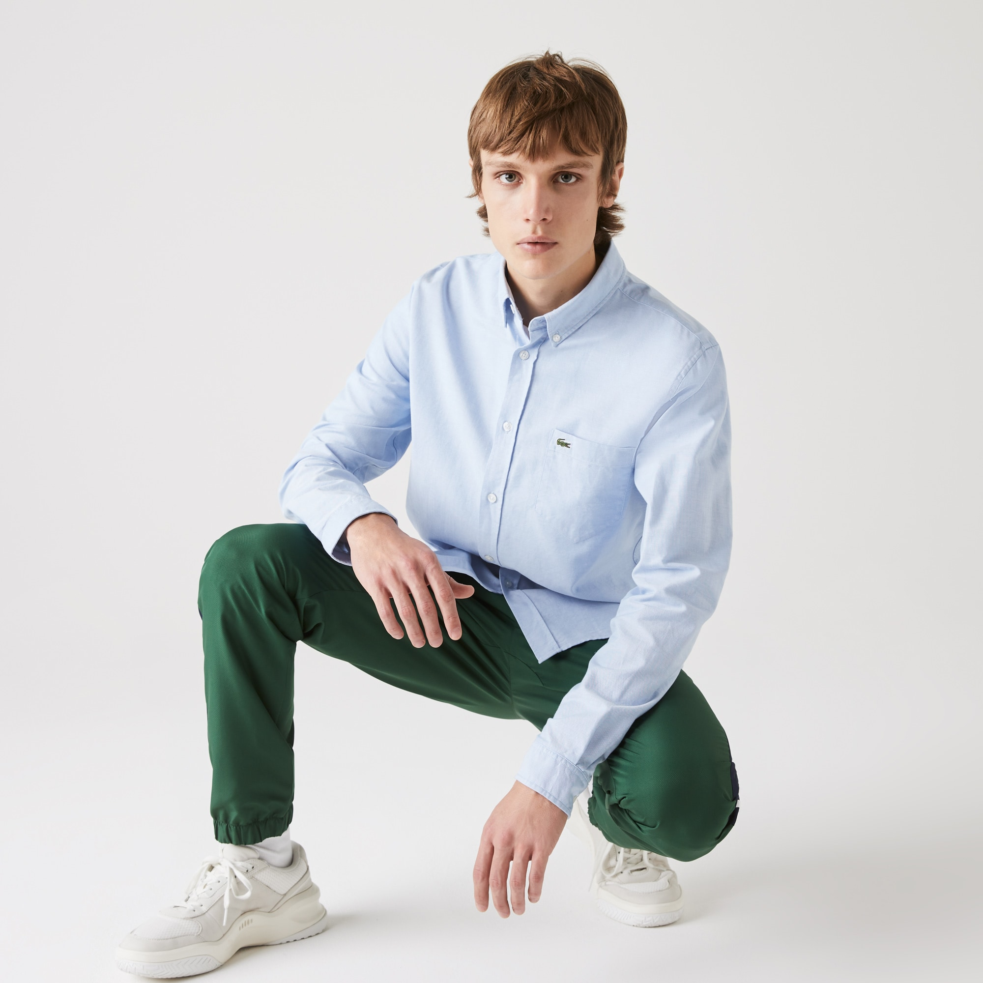 Chemise regular fit en coton Oxford uni
