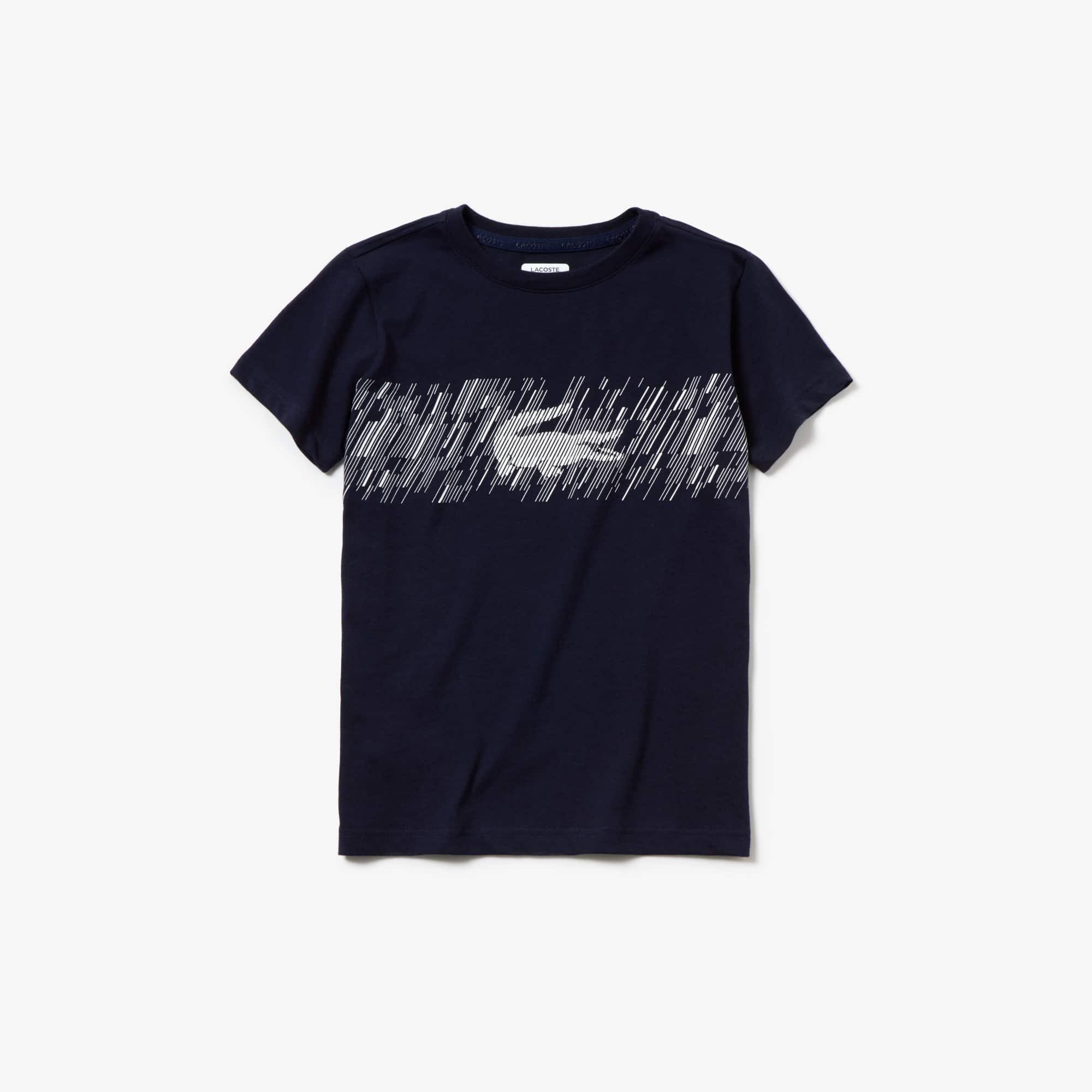 fd72bd7043 + 2 couleurs · T-shirt Garçon Tennis Lacoste SPORT ultra-dry imprimé  crocodile