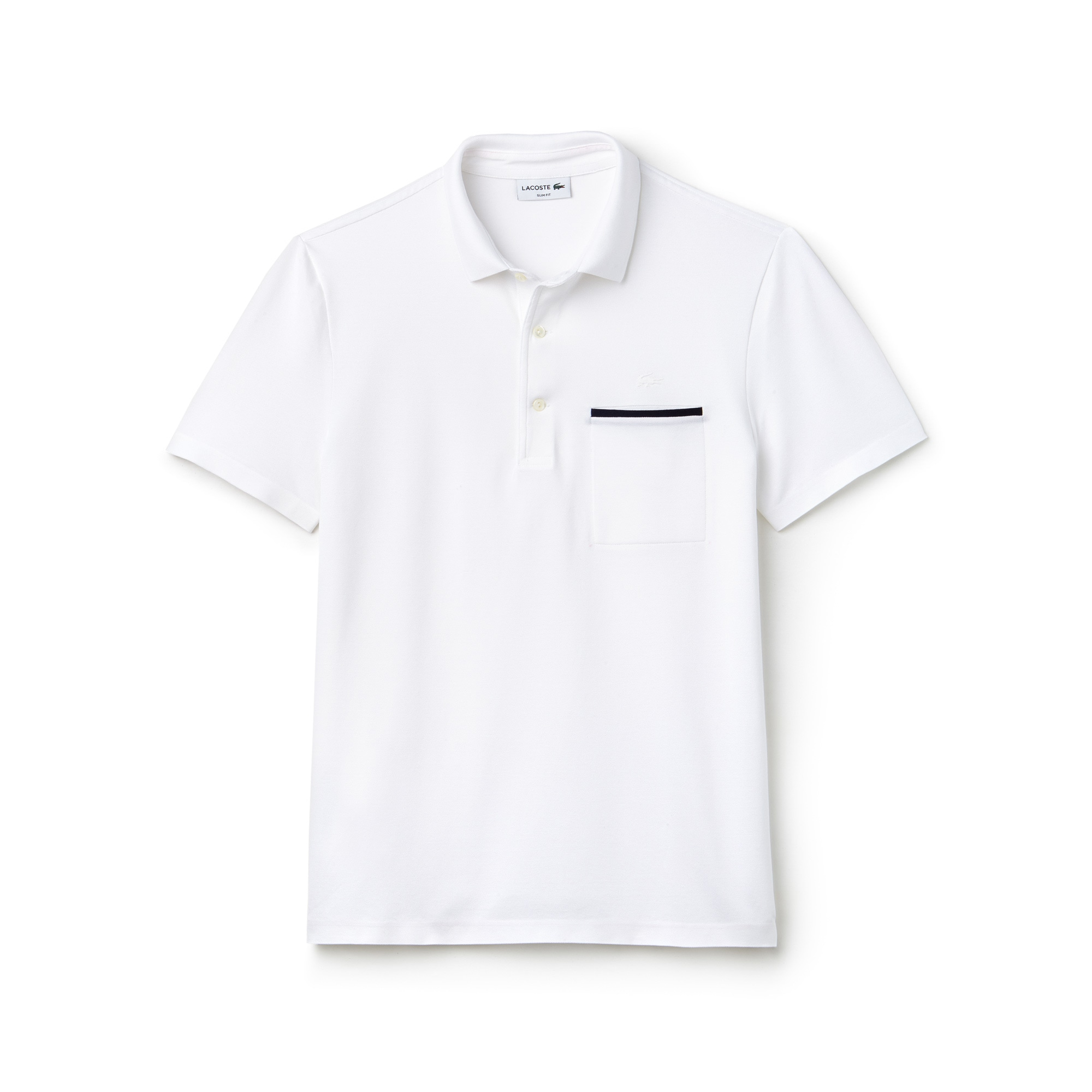 Polo slim fit Lacoste en mini piqué uni