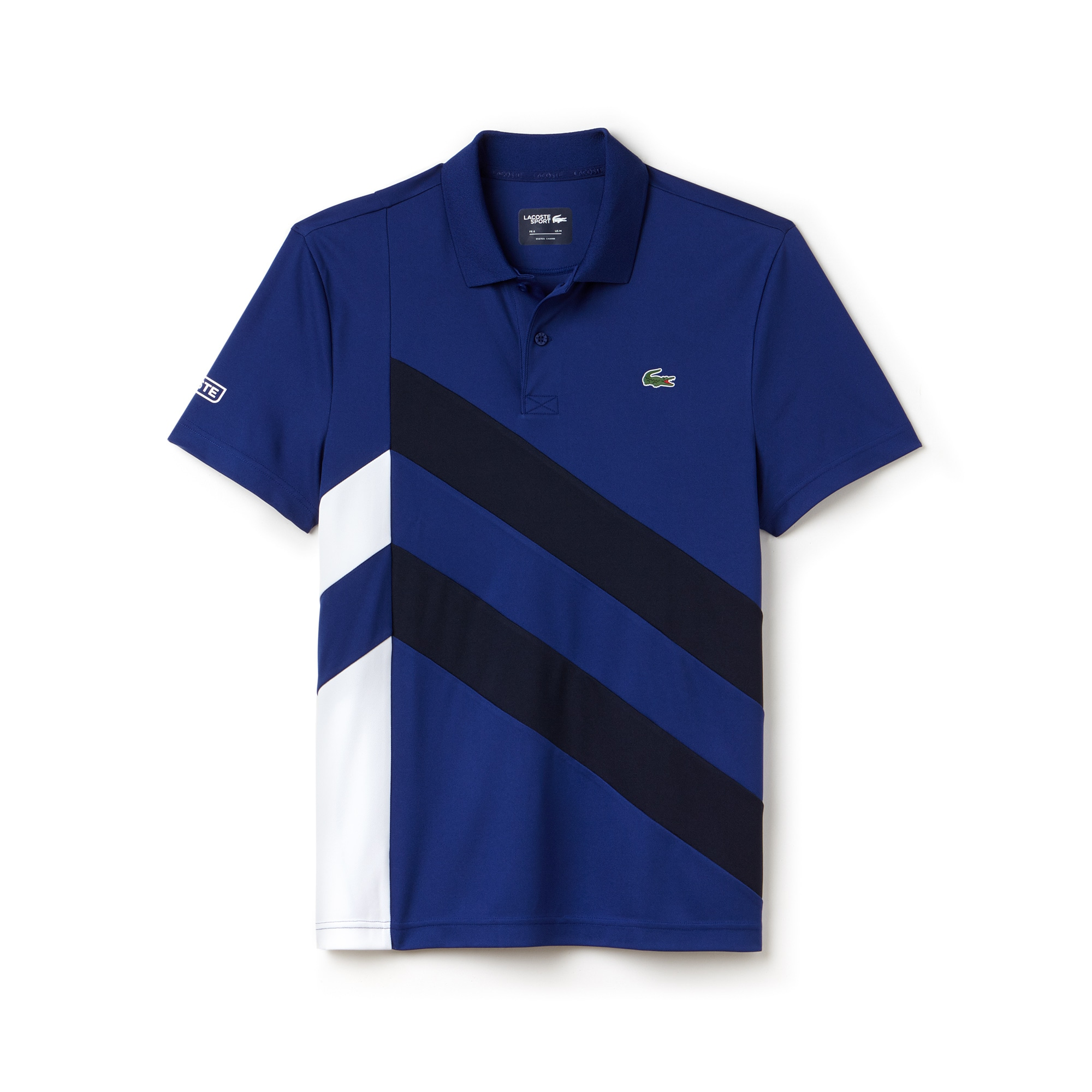 Polo Tennis Lacoste SPORT en piqué technique bandes color block