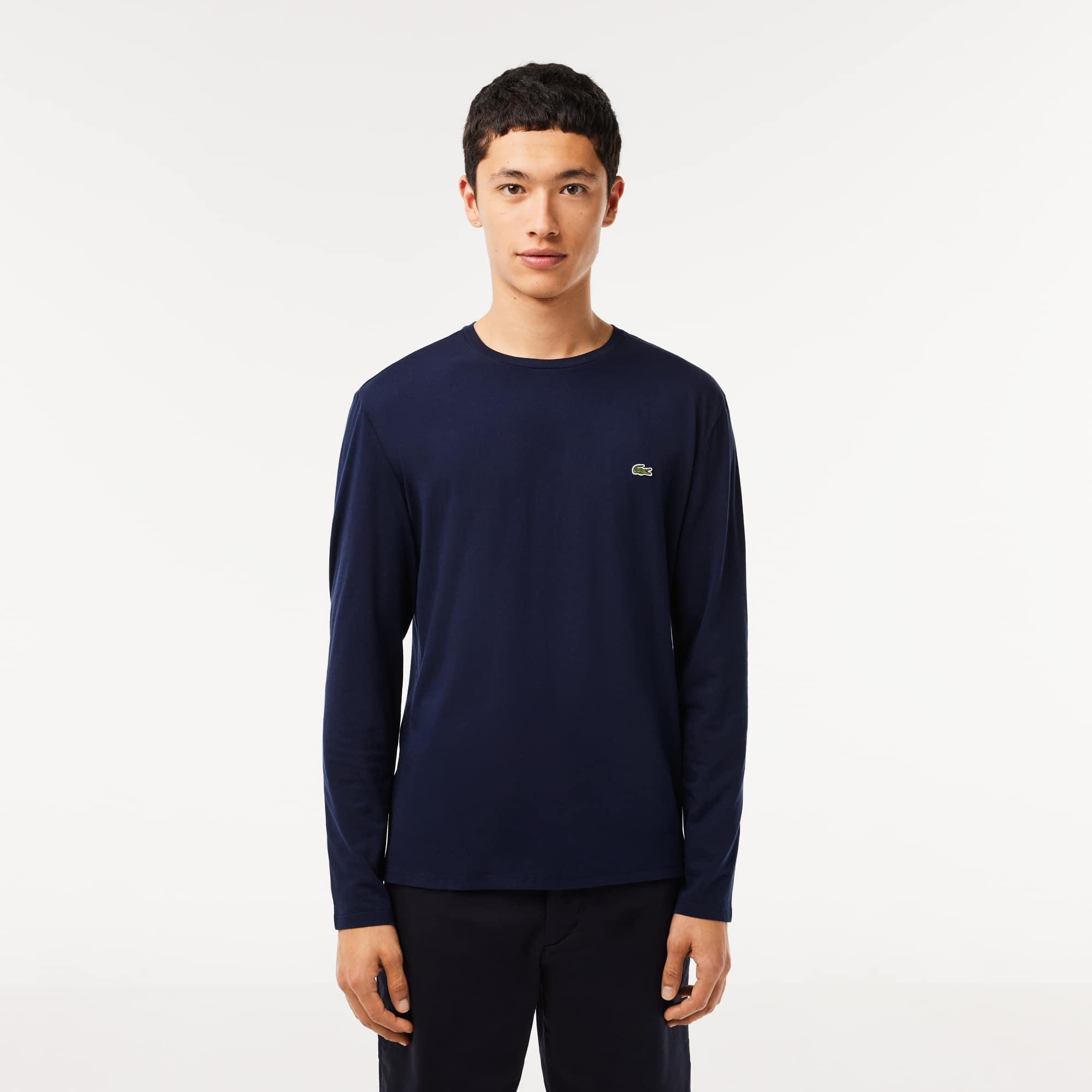 Lacoste - T-shirt col rond en jersey de coton pima uni - 1