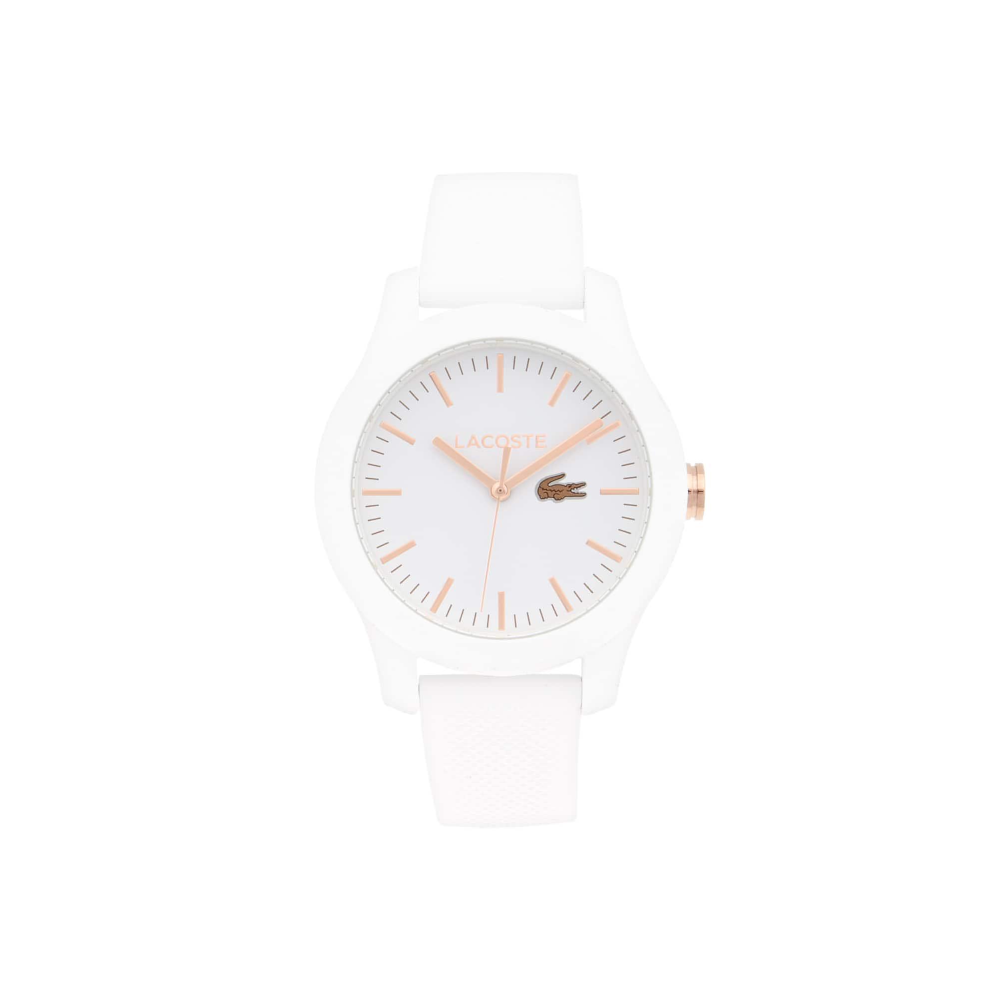 Montre Lacoste12.12 Femme avec Bracelet Blanc en Silicone