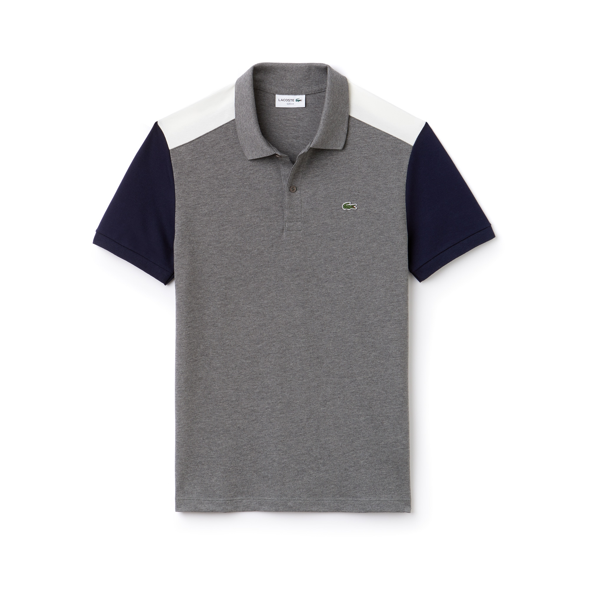 Lacoste - Polo slim fit Lacoste en piqué de coton Pima stretch color block - 3
